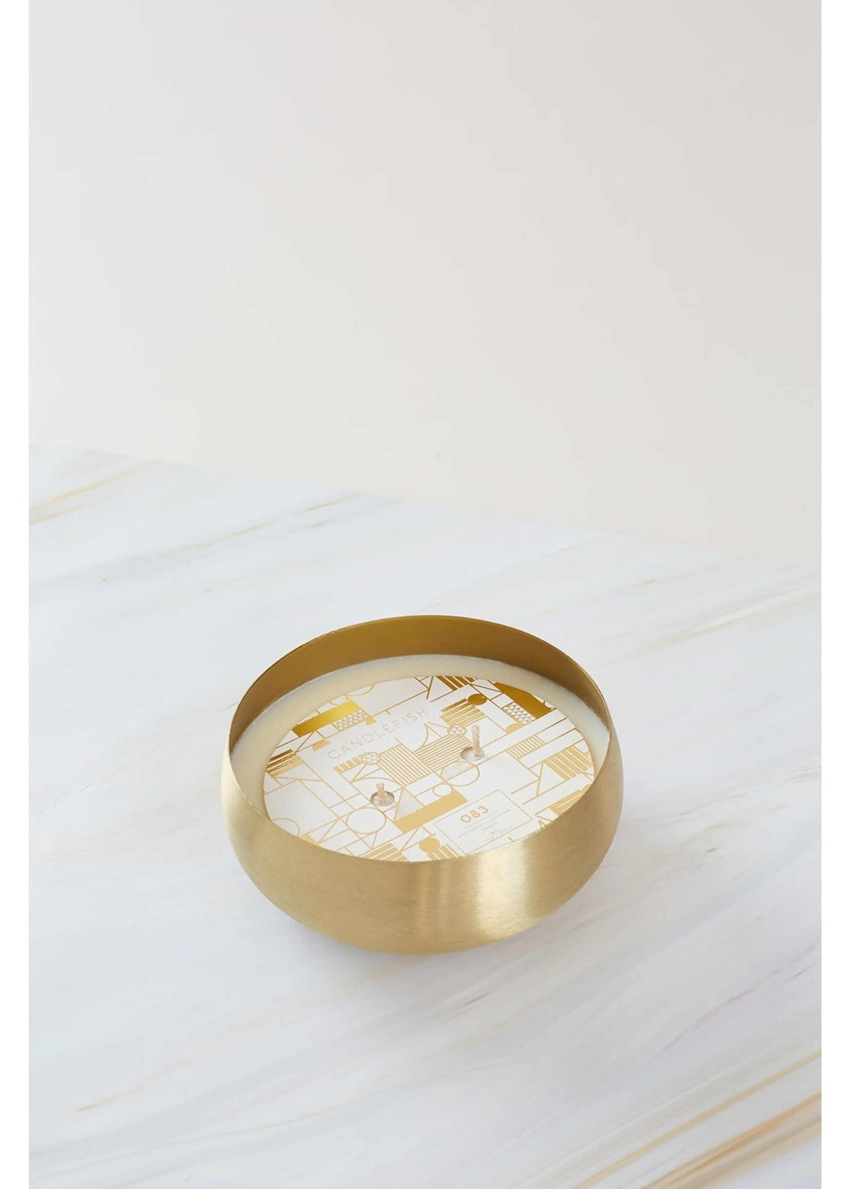 No. 83 Small Gold Bowl Candle 14 oz