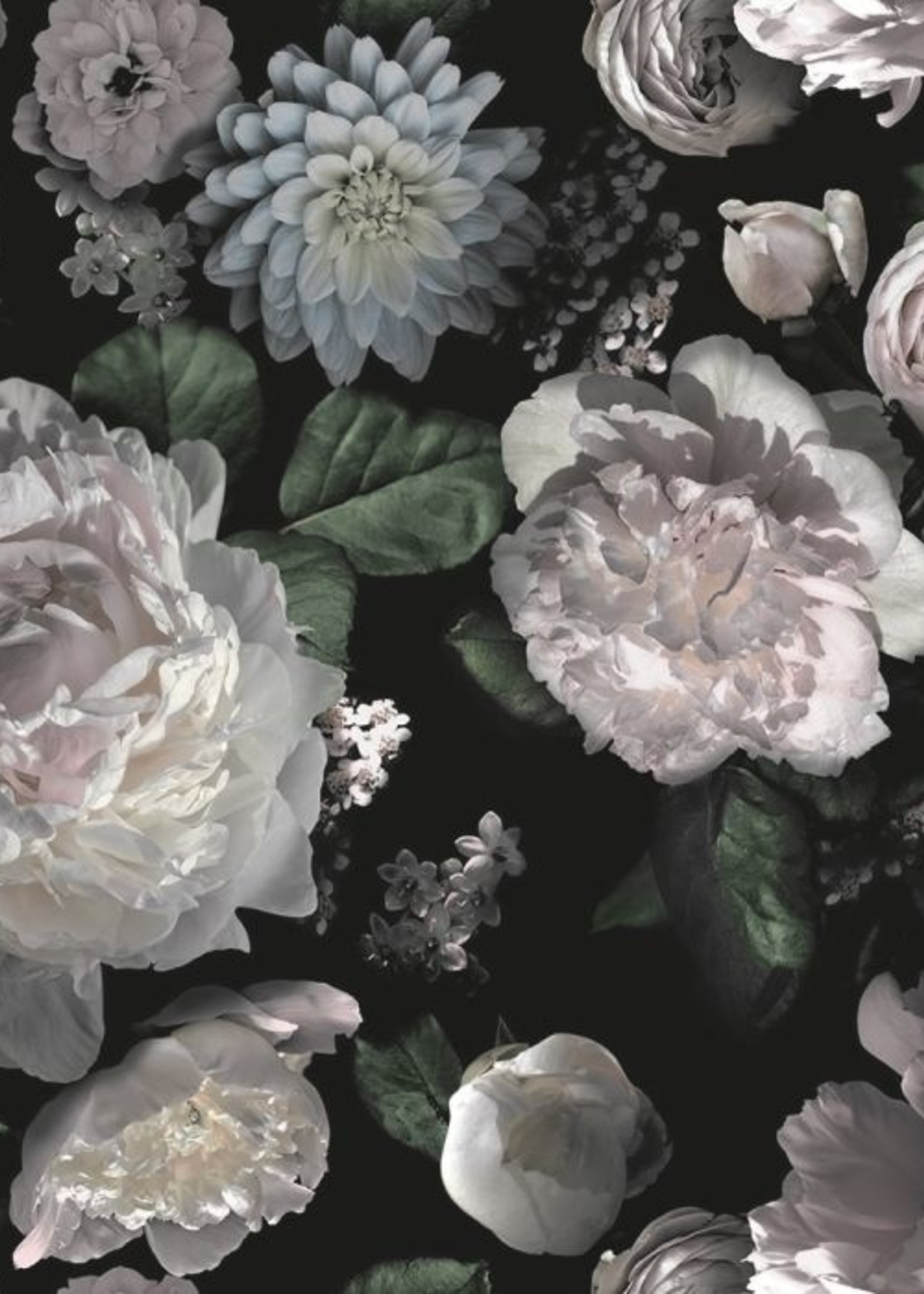 Moody Floral Wallpaper - Double