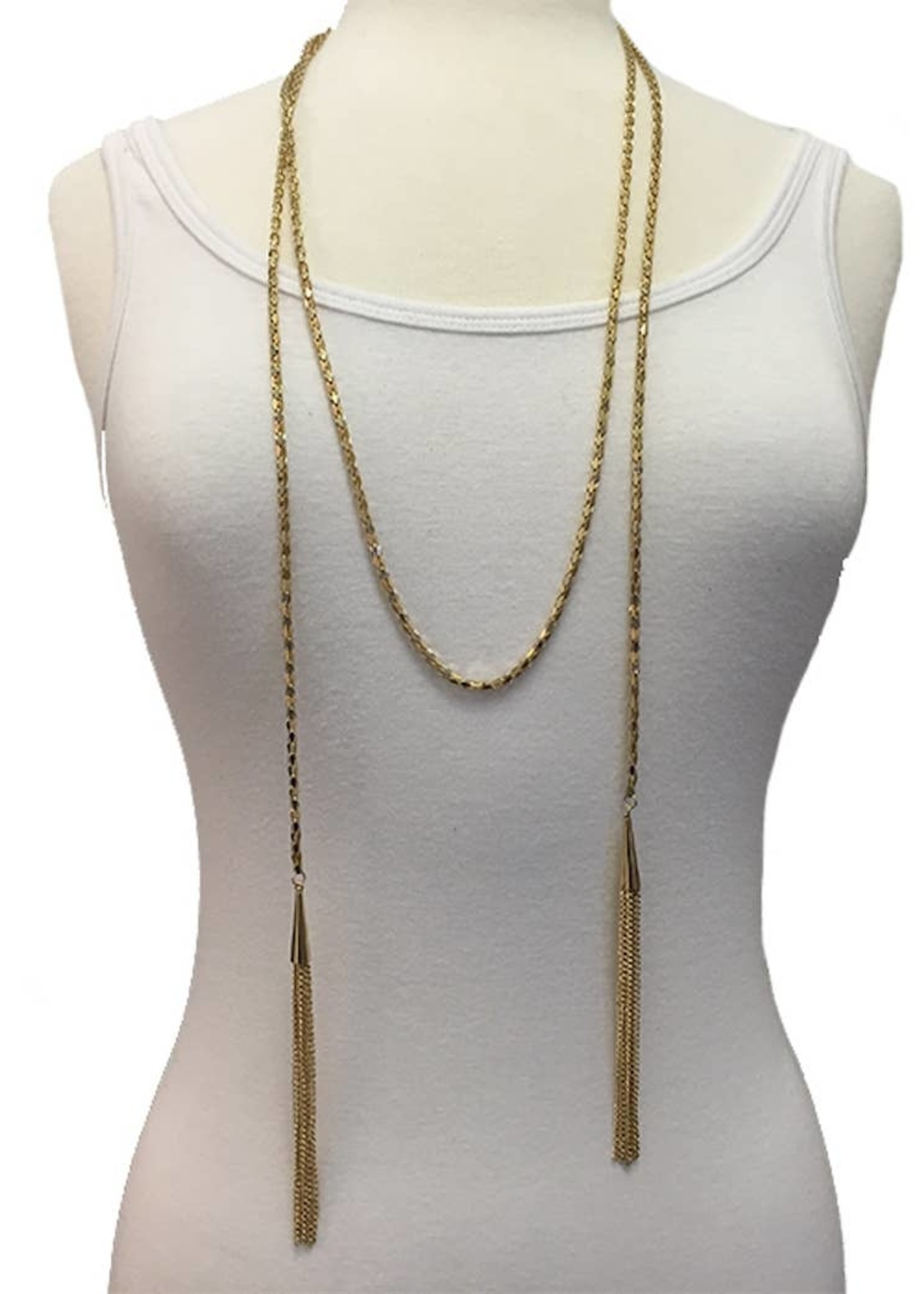 Draped In Gold Necklace