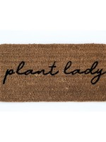 "Natural Coir Doormat ""Plant Lady"""
