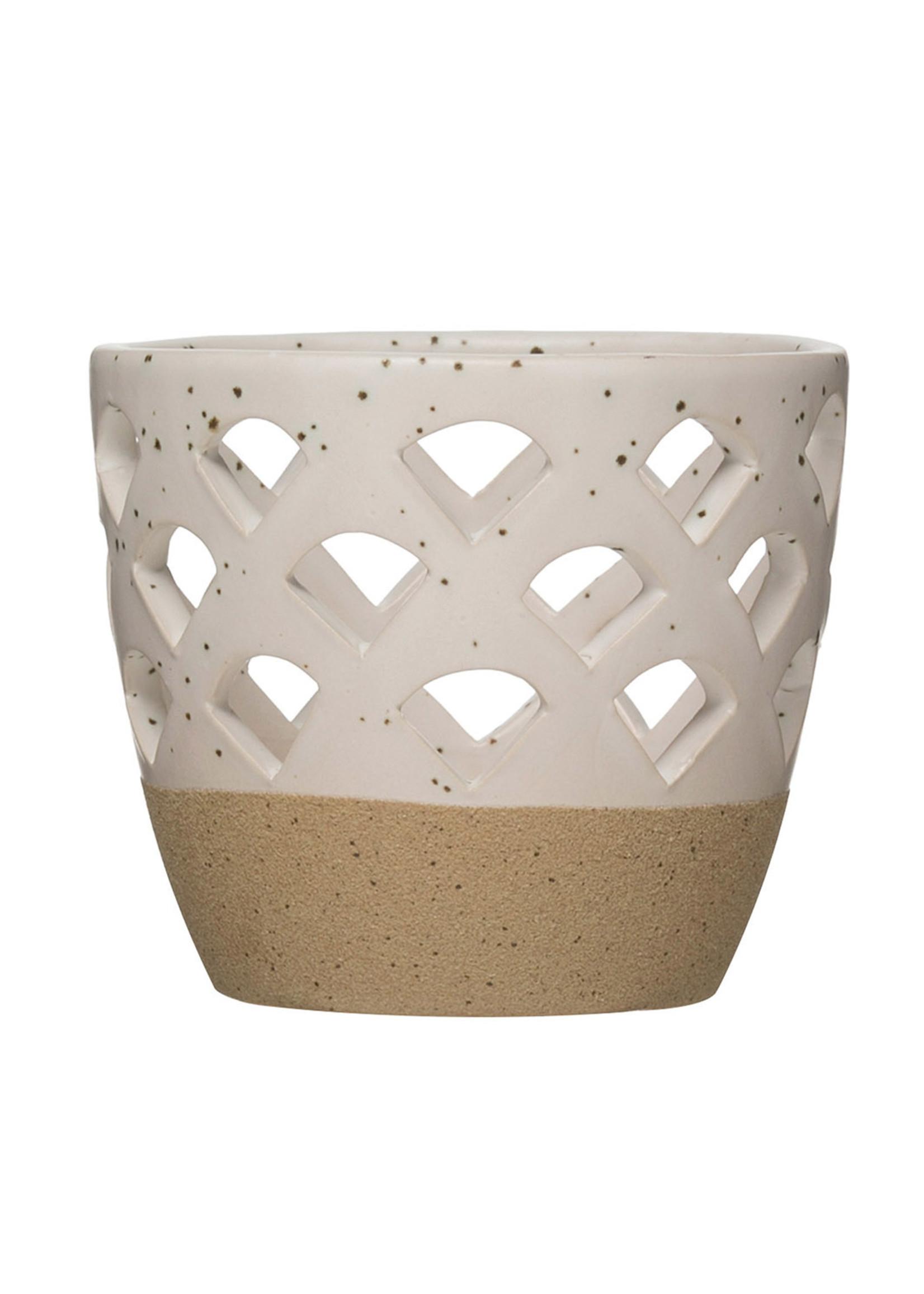 Stoneware Tealight/Votive Holder