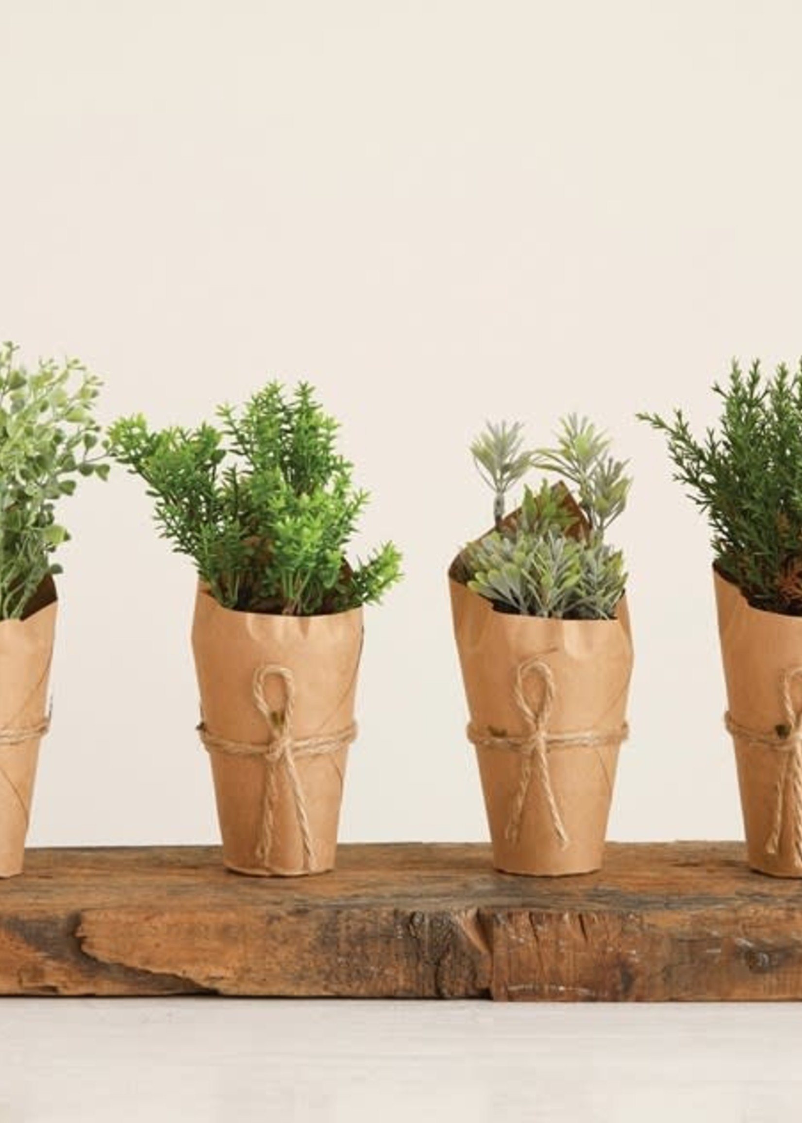 Artificial Plant In Paper Wrapped Pot