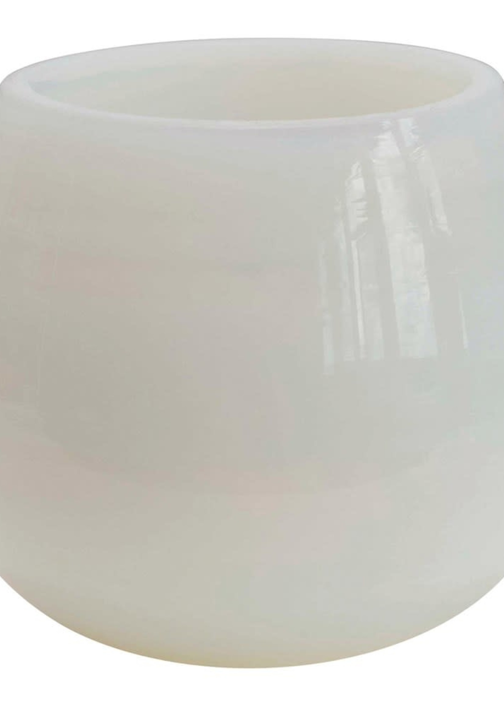 Glass Votive Holder, White Opal Finish