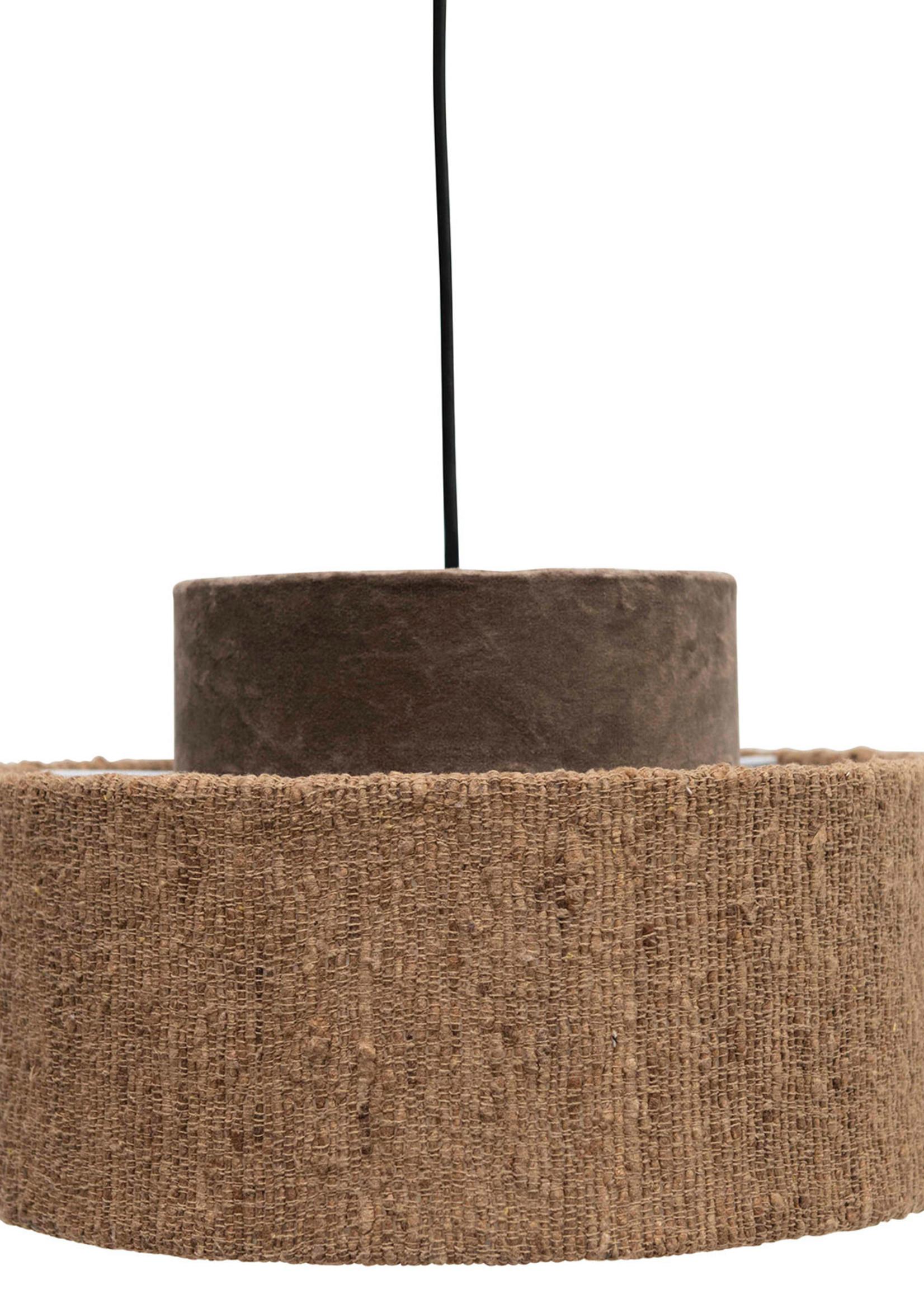 Cotton Velvet & Boucle Pendant Lamp