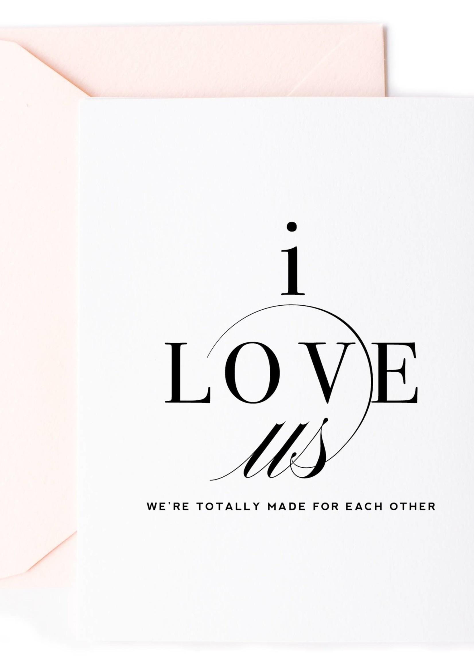 I Love Us, Love Card & Anniversary Card