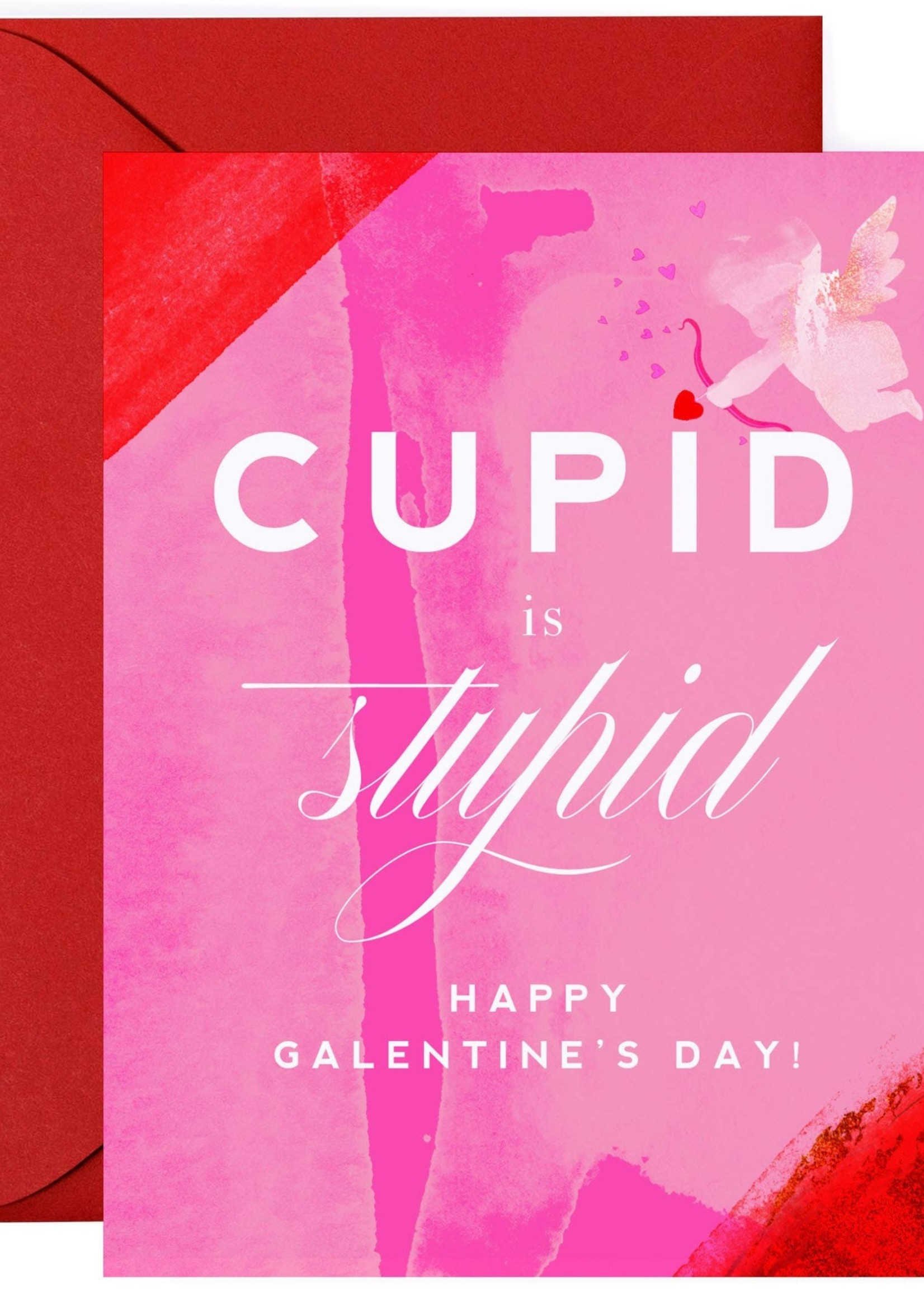 Cupid is Stupid - Funny Galentine's Day Card - Valentine's
