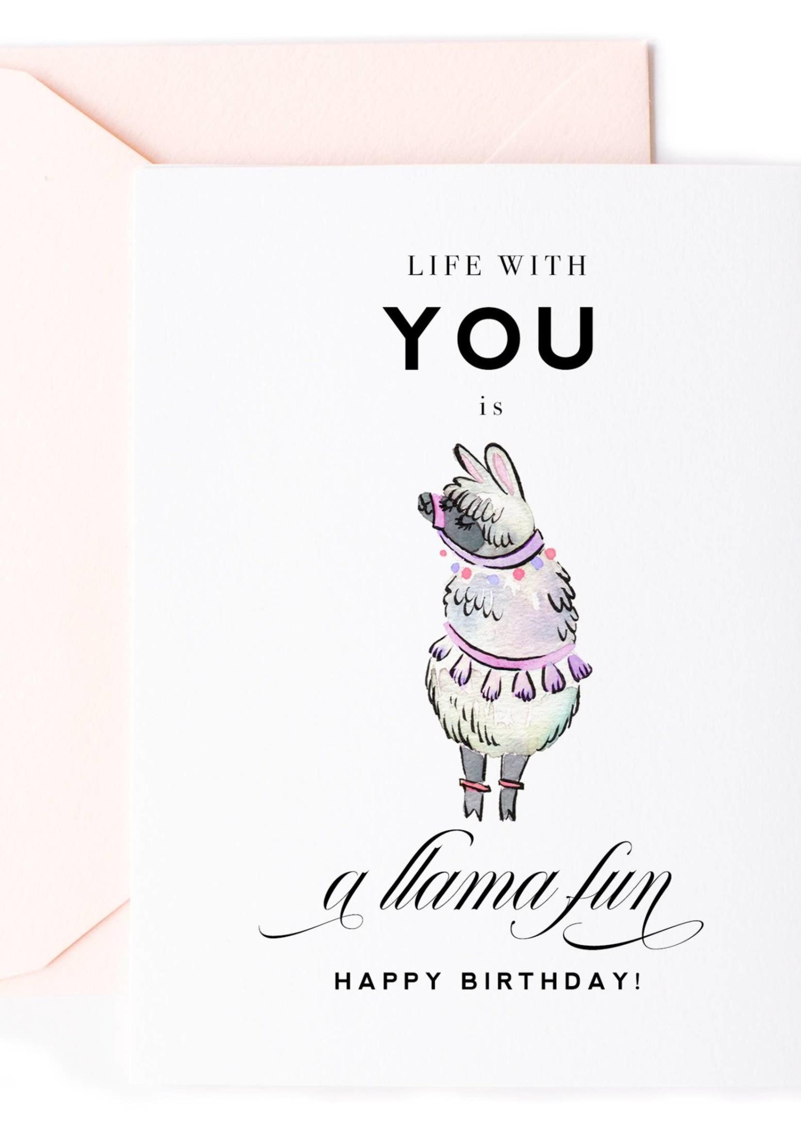 A Llama Fun, Llama Birthday Card for Kids