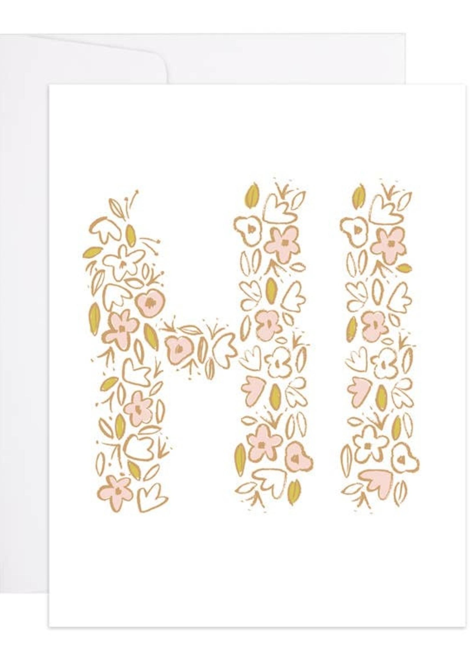 Hi Flowers Card