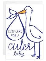 Stork Cuter Baby - Mini Card