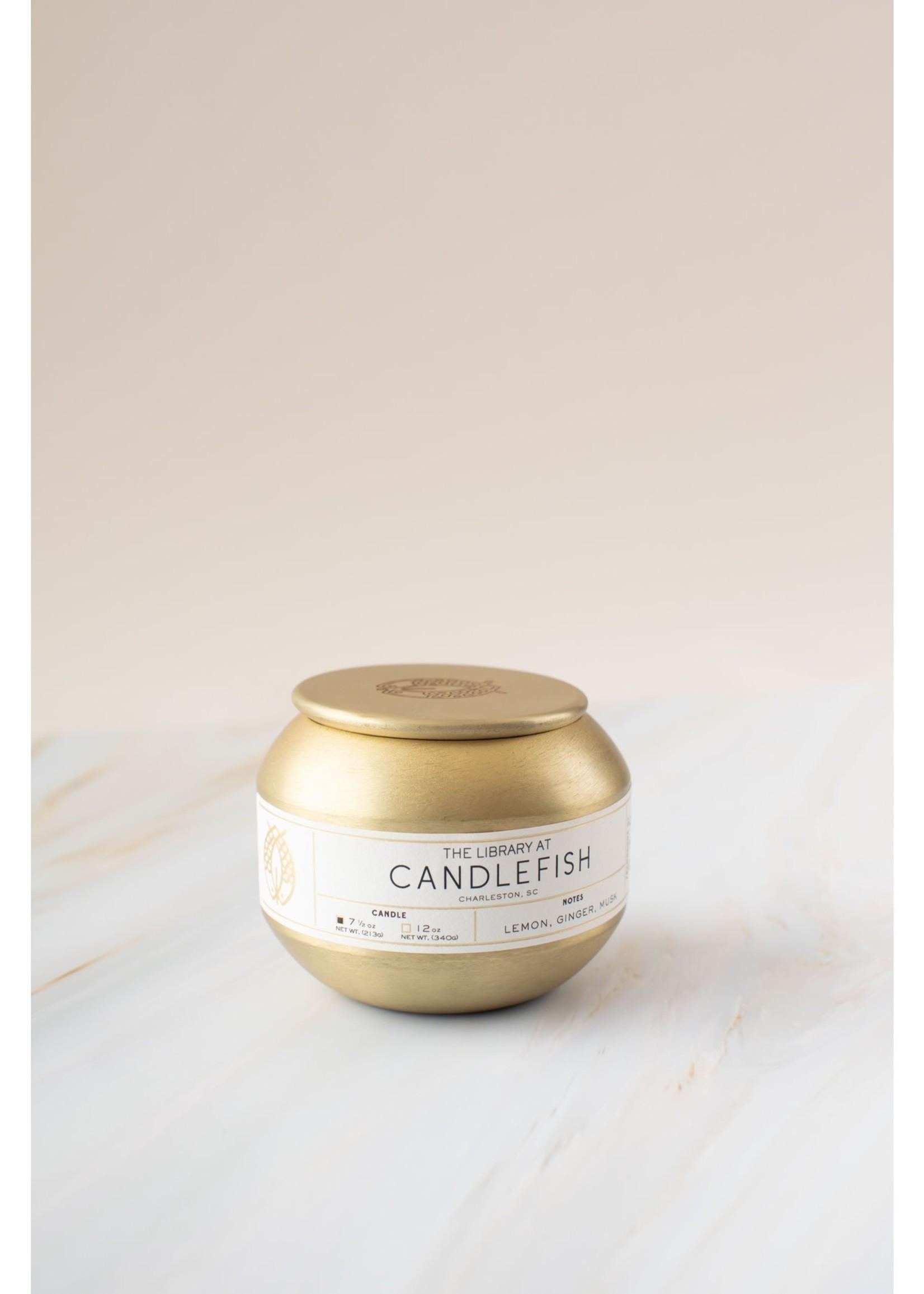 No. 70 Gold Tin Candle 7.5 oz