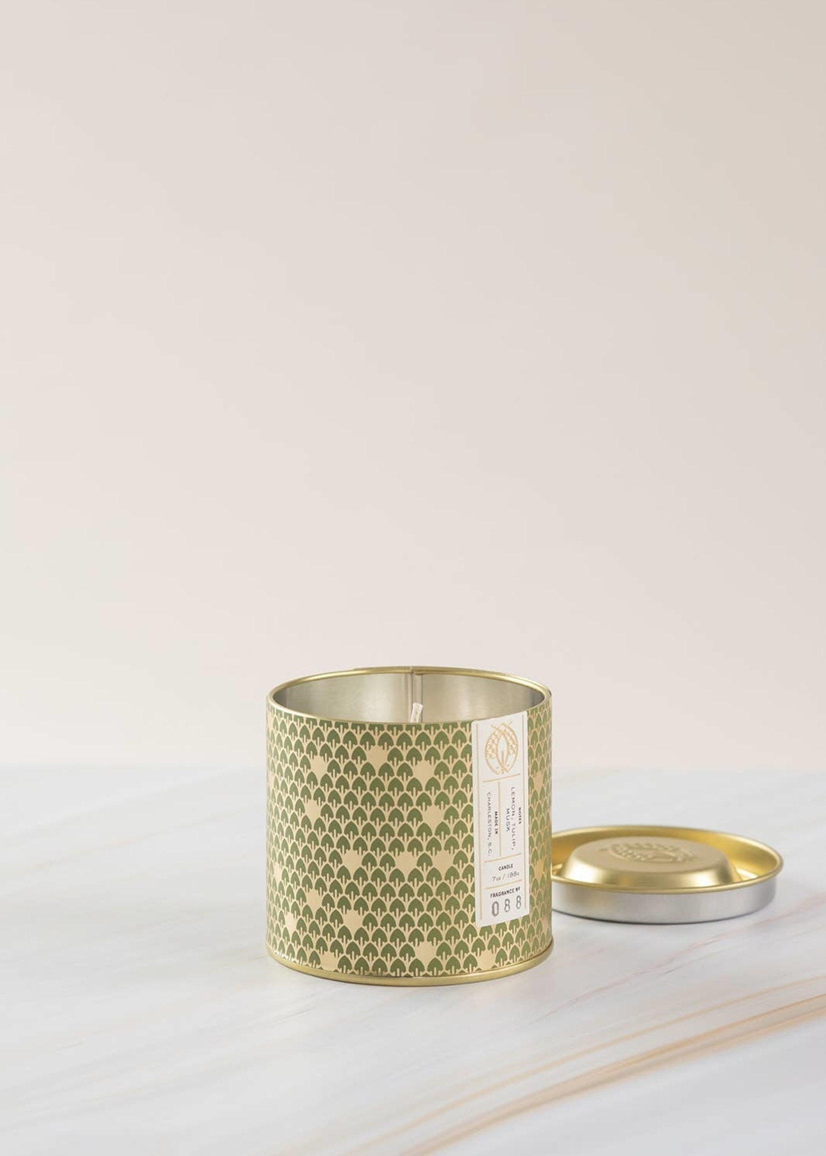No. 88 Gold Tin w/ Embossed Lid (Green) 7 oz