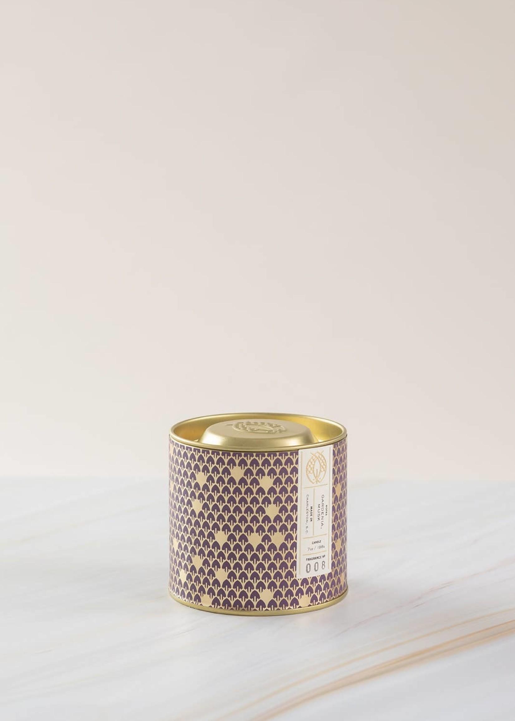 No. 8 Gold Tin w/ Embossed Lid (Purple) 7 oz