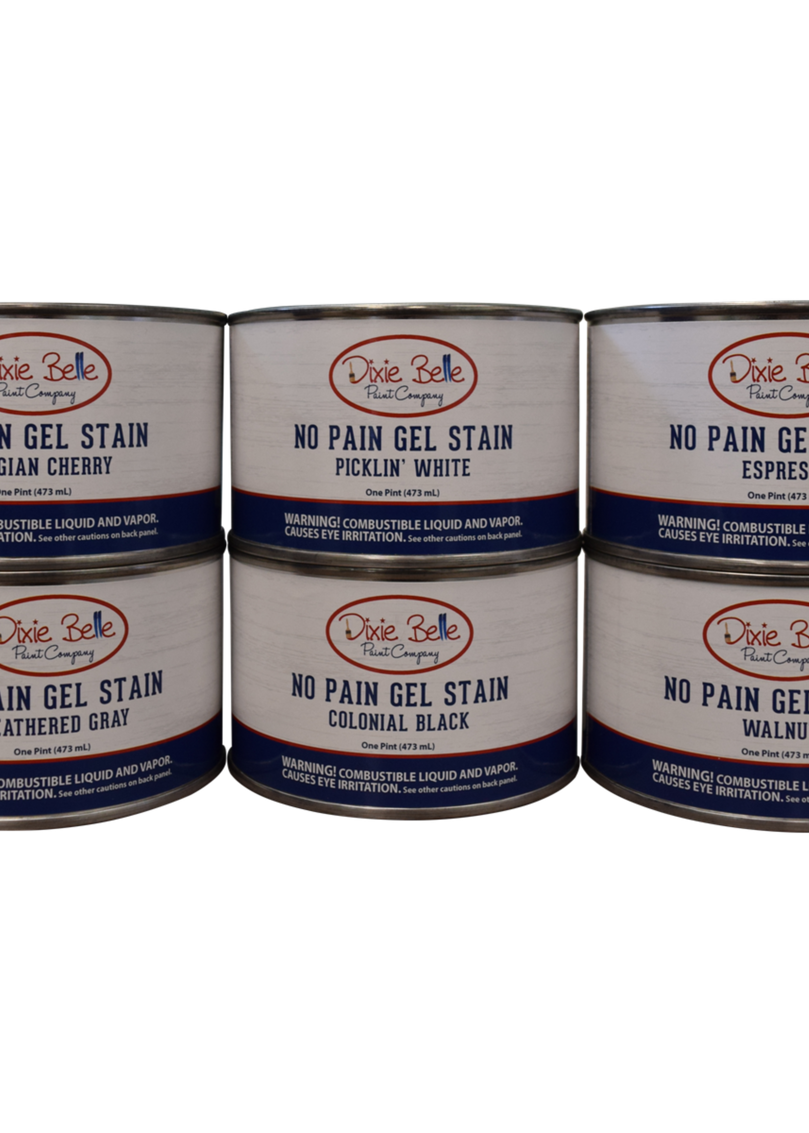 No Pain Gel Stain Colonial Black 16 oz