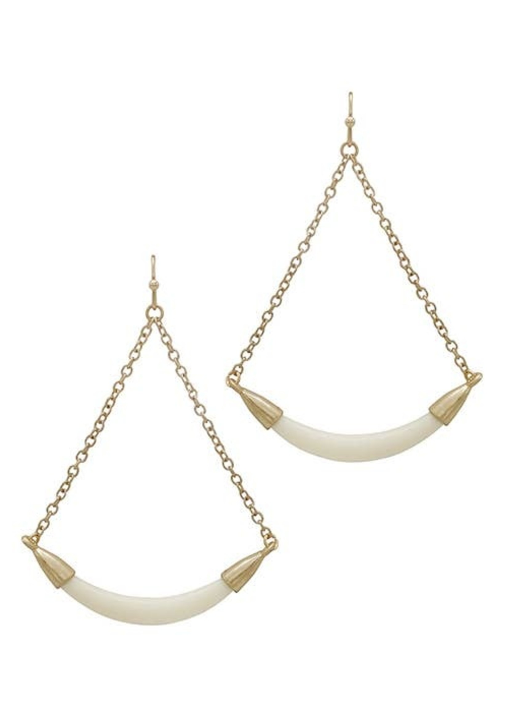 In The Balance Earrings Ivory