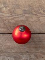 Antique Matte Ruby Glass Ball Ornament Medium