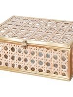 Natural Cane Wicker Jewelry Box - Small