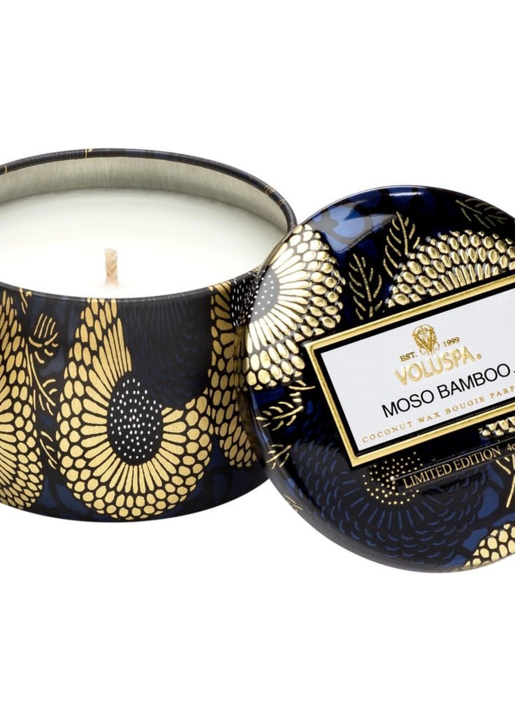 Moso Bamboo Mini Tin Candle