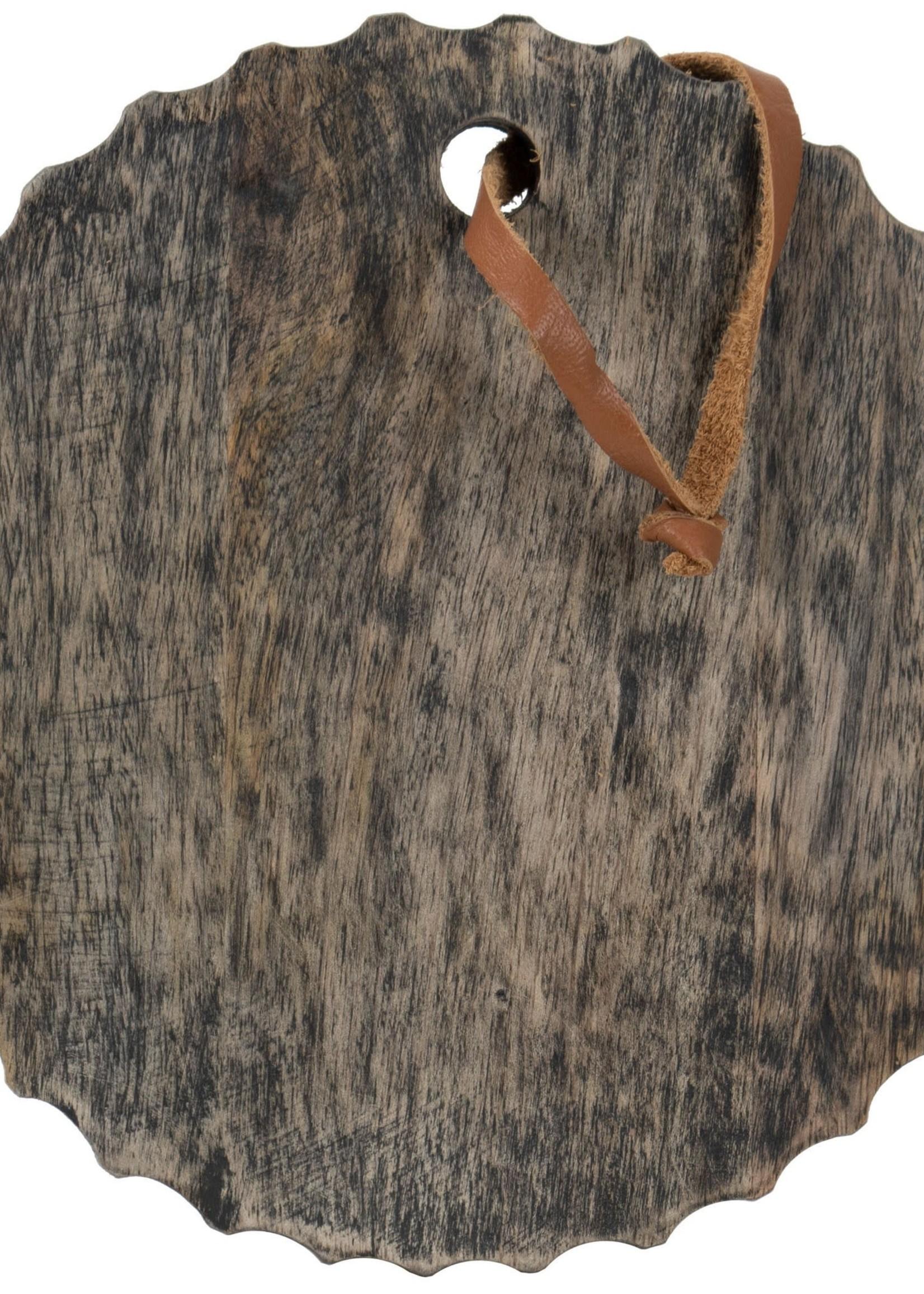 Carved Round Board Black