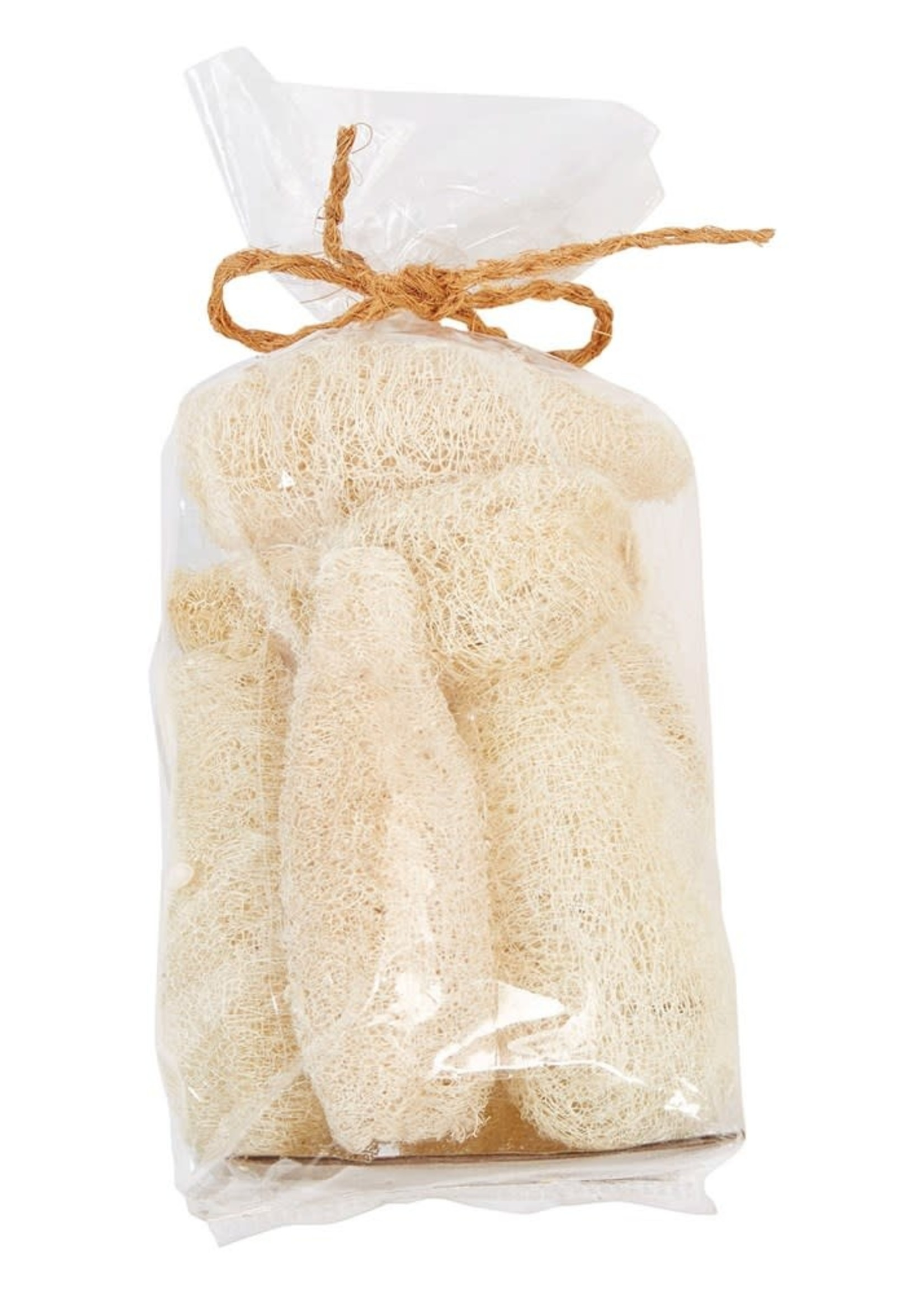 Dried Natural Sponge Gourd in Bag, Bleached (Contains 7 Pieces)