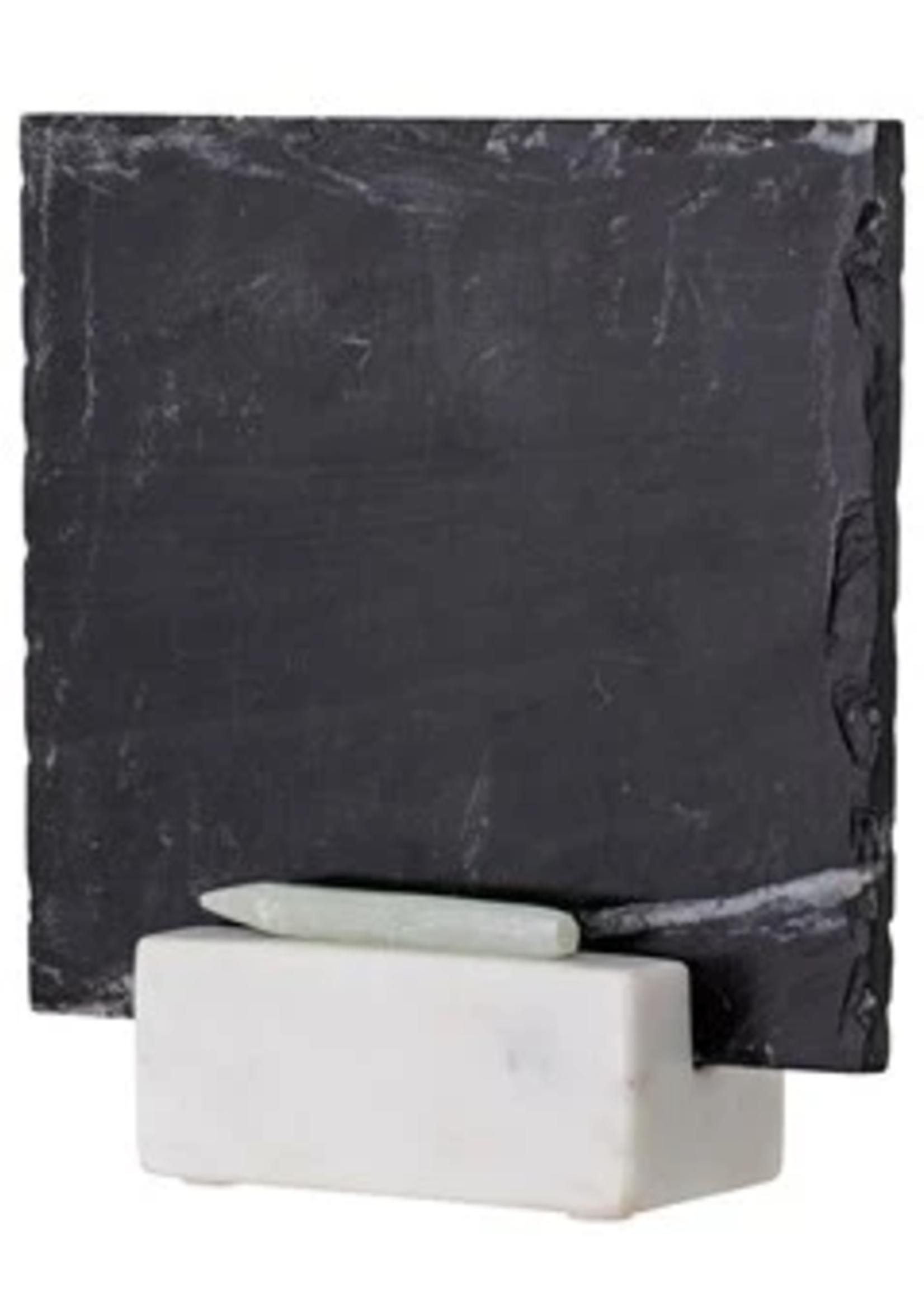 Slate Chalkboard w/ Marble Base & Pencil, Message Board