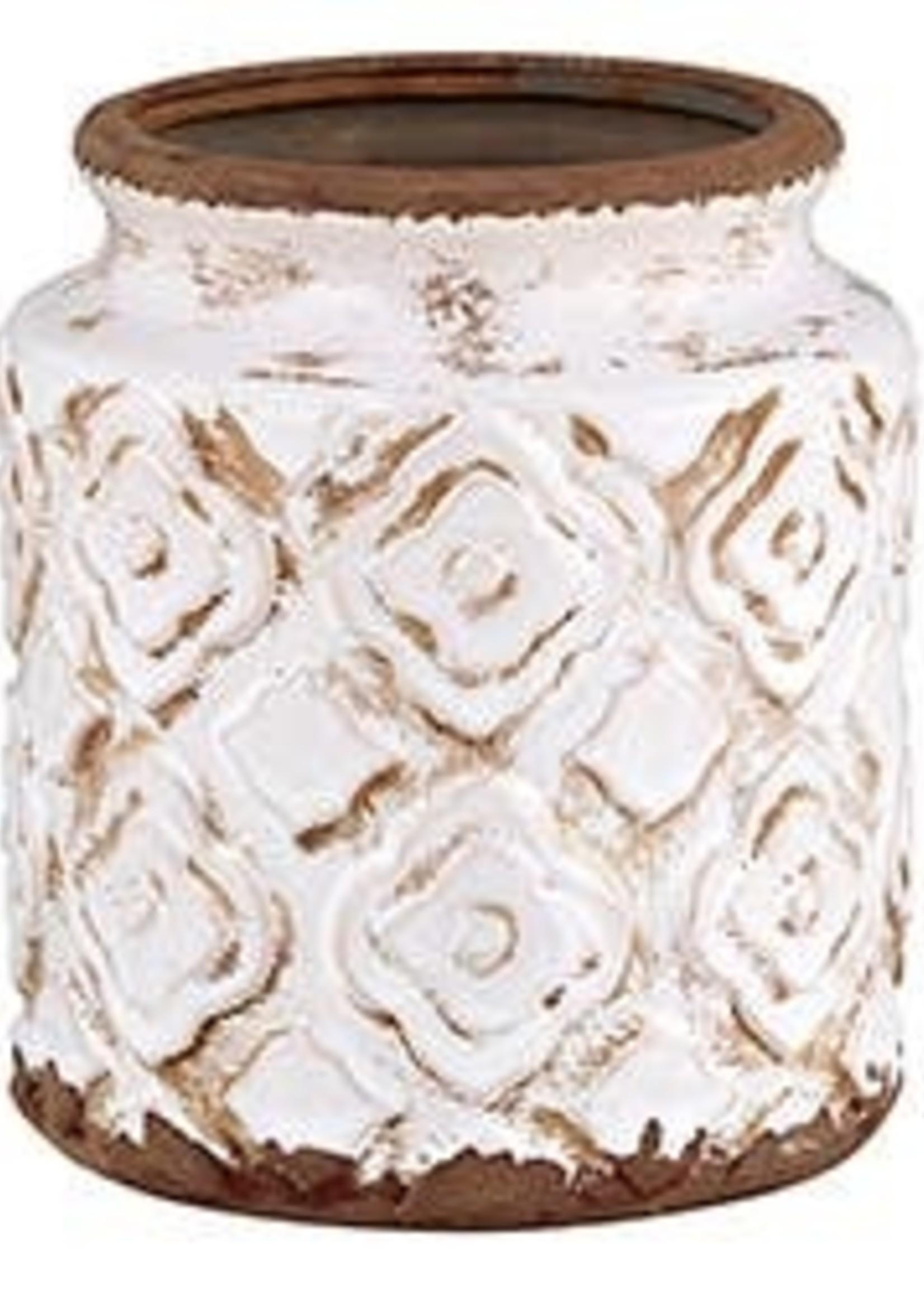 Cream Cylinder Vase