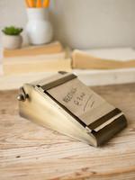 Desk Top Note Roll w/ Antique Brass Holder