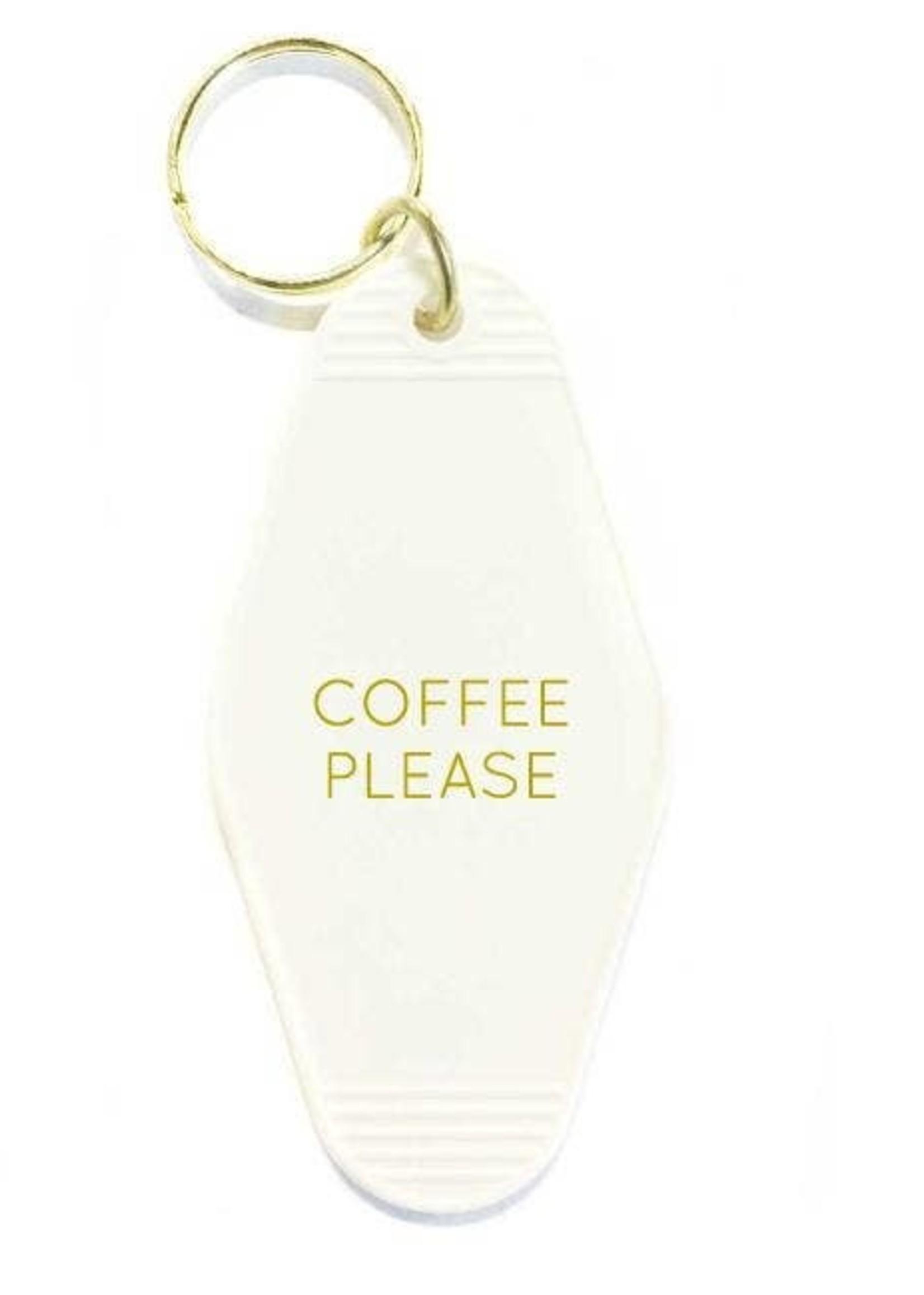 Three Potato Four Key Tag - Coffee Please (White)