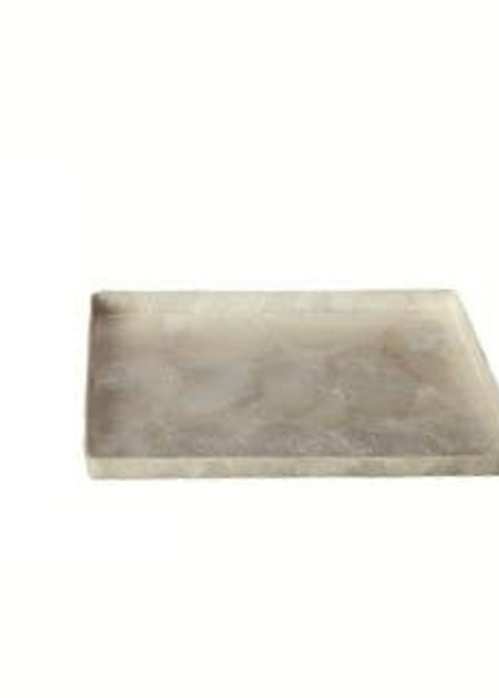 Dekorasyon Gifts  Decor Capiz Small Rectangular Tray w/Straight Edge