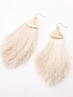 Koko and Lola Ivory & Tassel Fringe Earrings