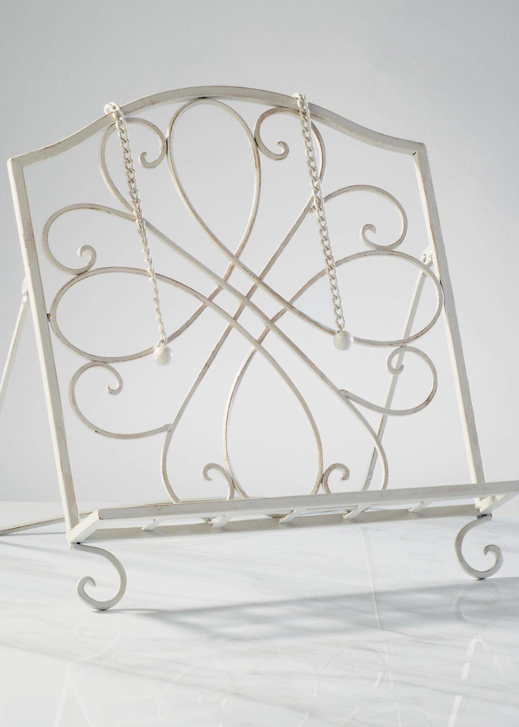 White Cookbook Stand