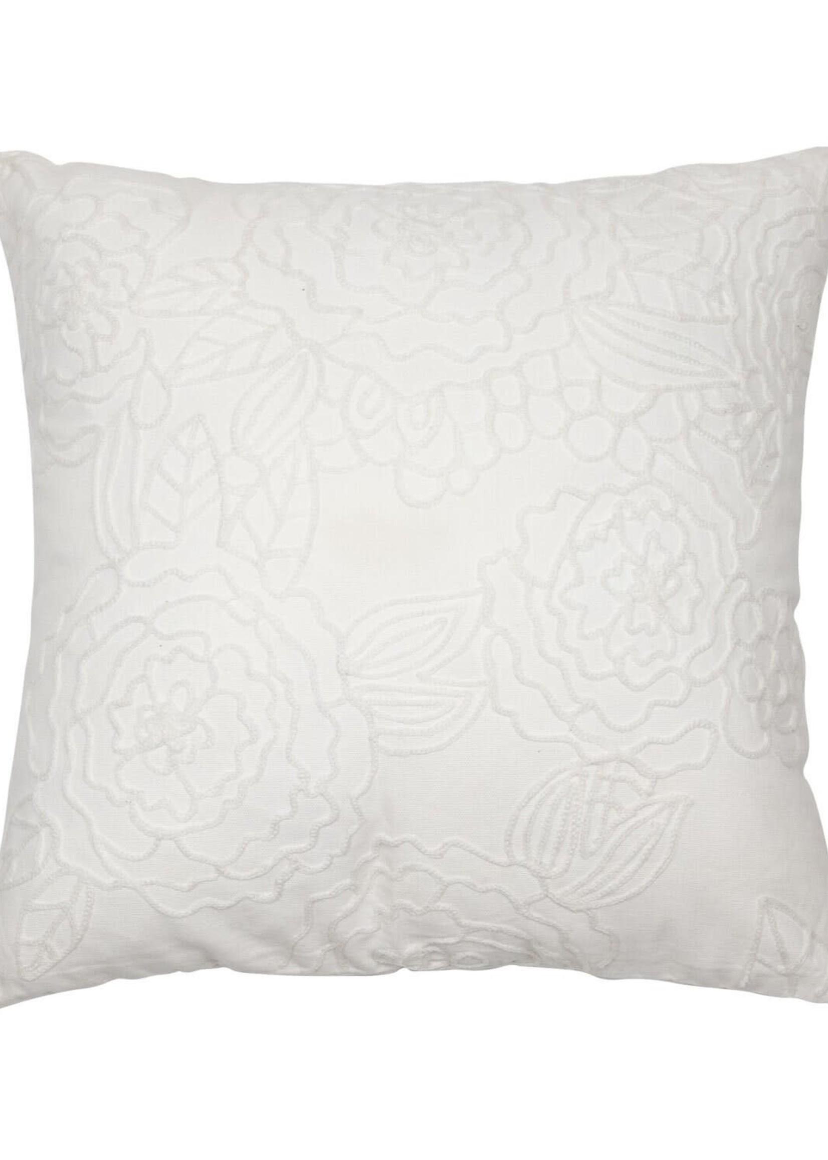 18X18 Hand Woven Blair Pillow White