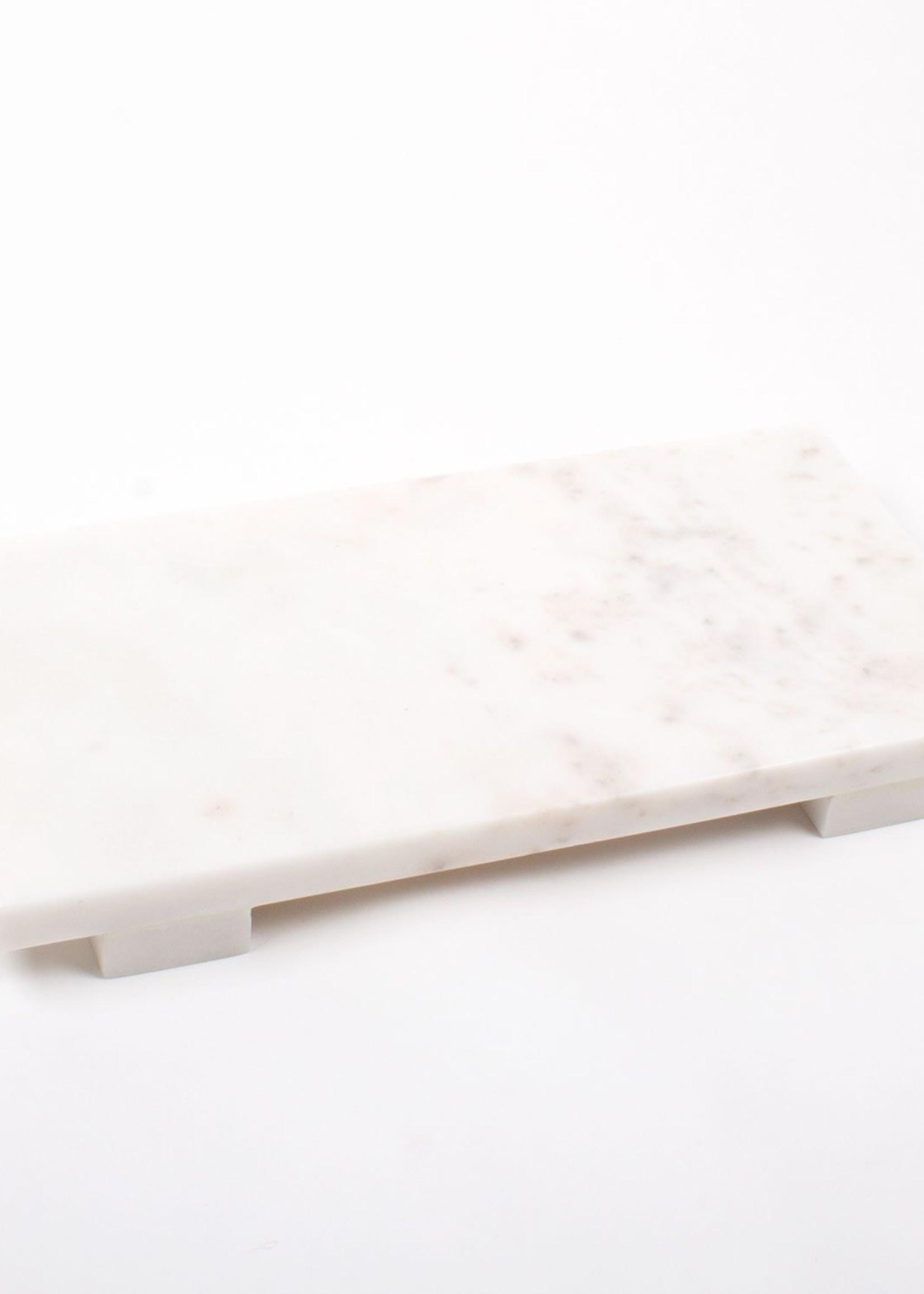 8 Oak Lane Large White Marble Cheese Board