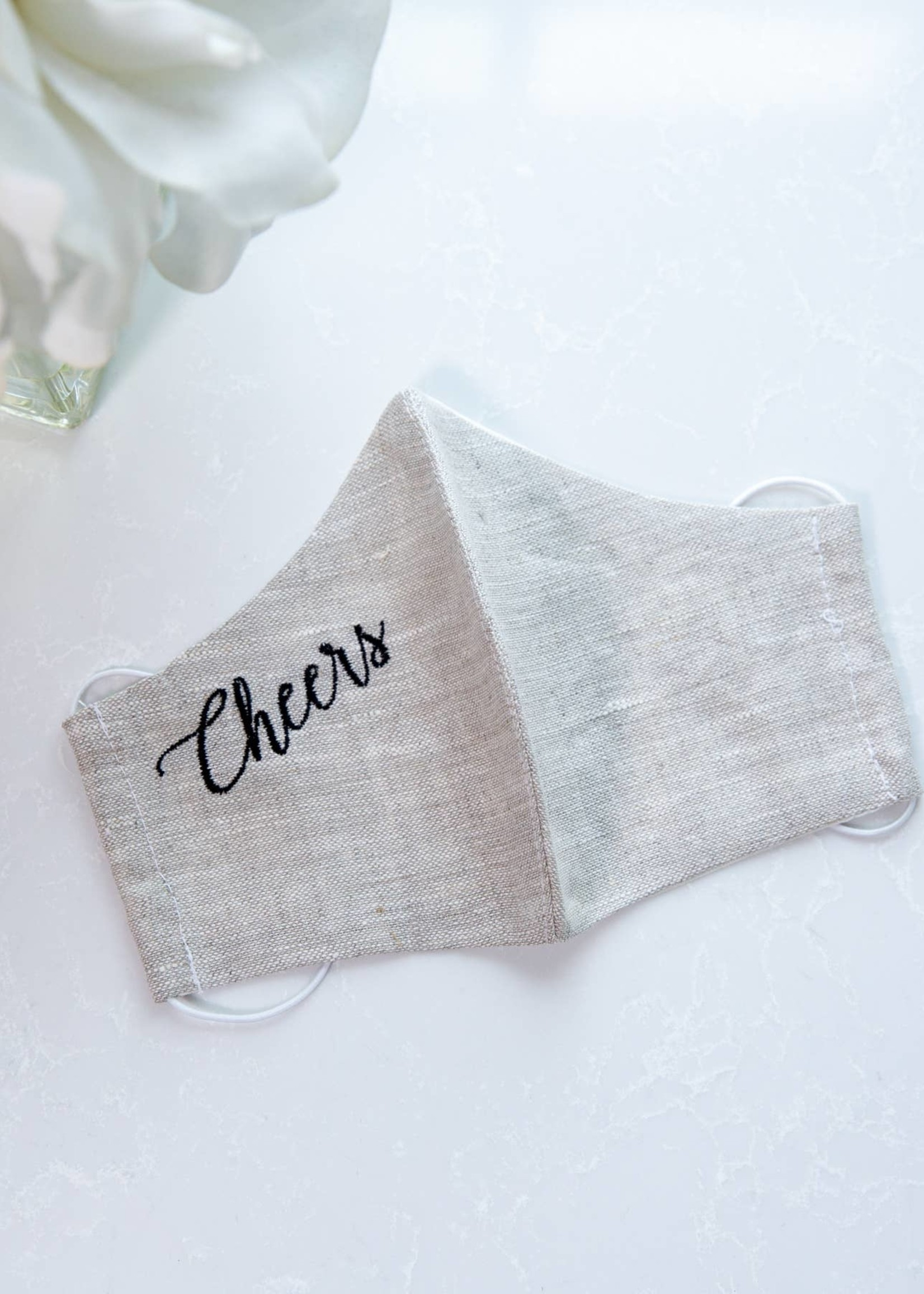 Crown Linen Designs Cheers Linen Face Mask