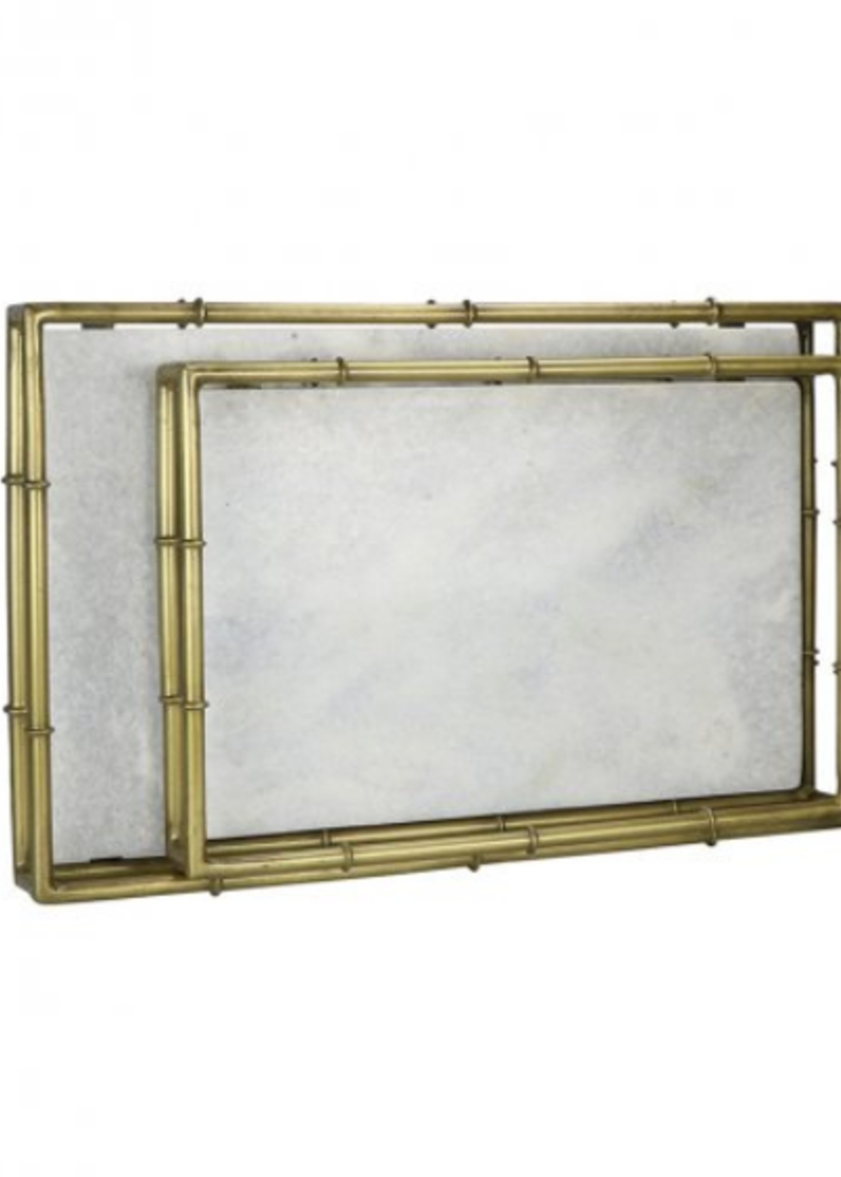 Large Bamboo & Marble Tray