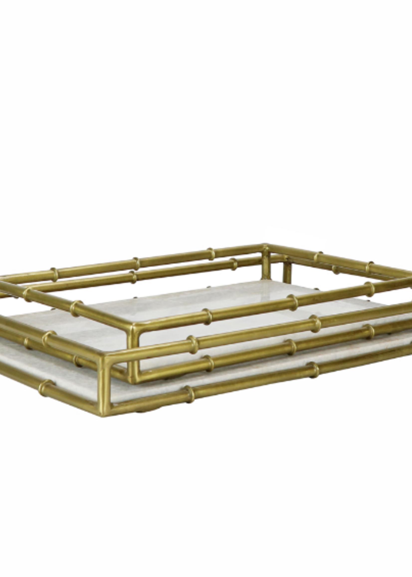 Small Bamboo & Marble Tray