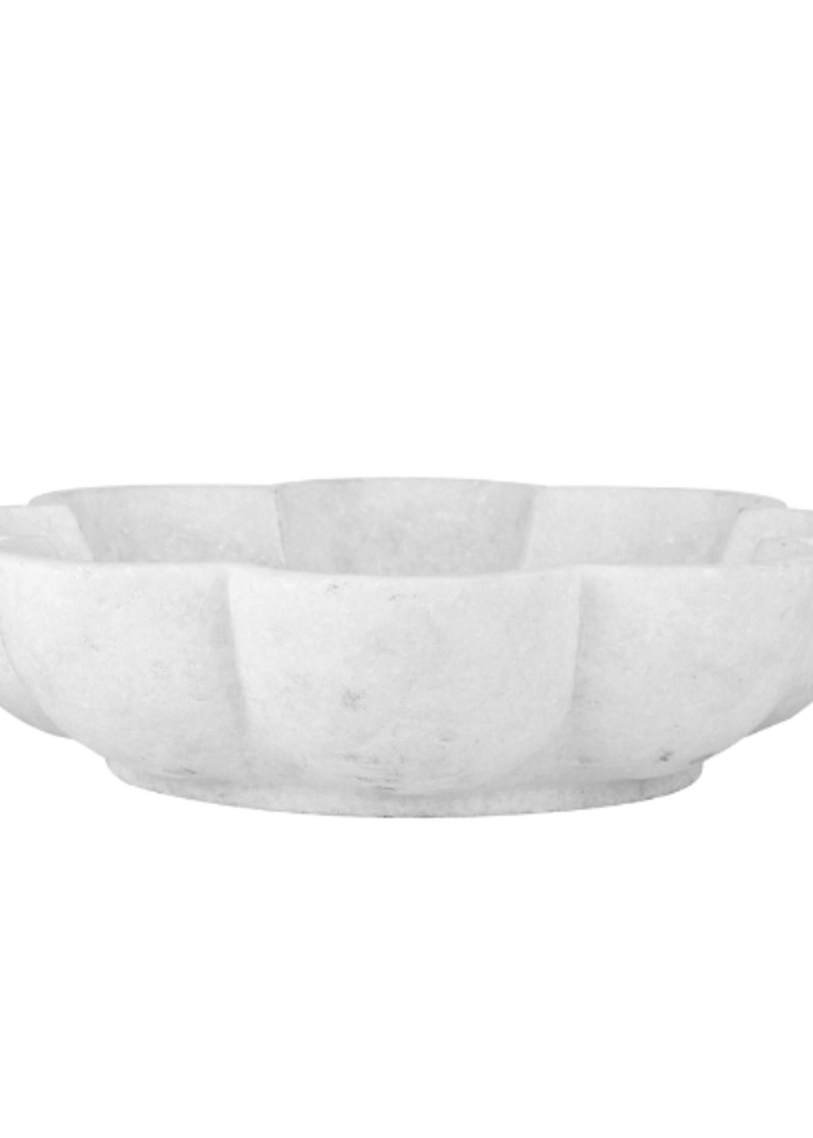 Marble Lotus Flower Snack Bowl