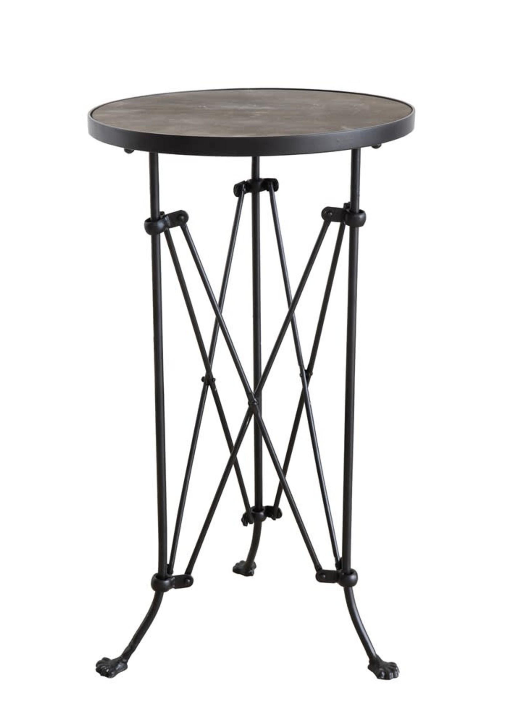"15""L x 14""W x 25-1/4""H Metal Table w/ Wood Top"