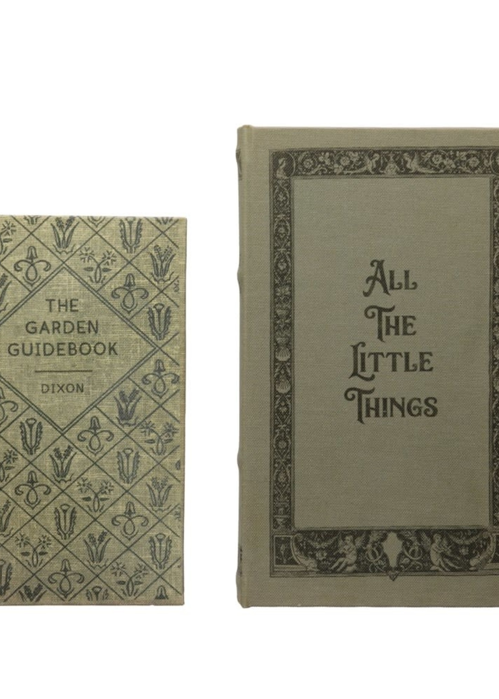"""S/2 10-1/4""""H Wood Book Box, Set of 2 """"All The Little Things"""""""