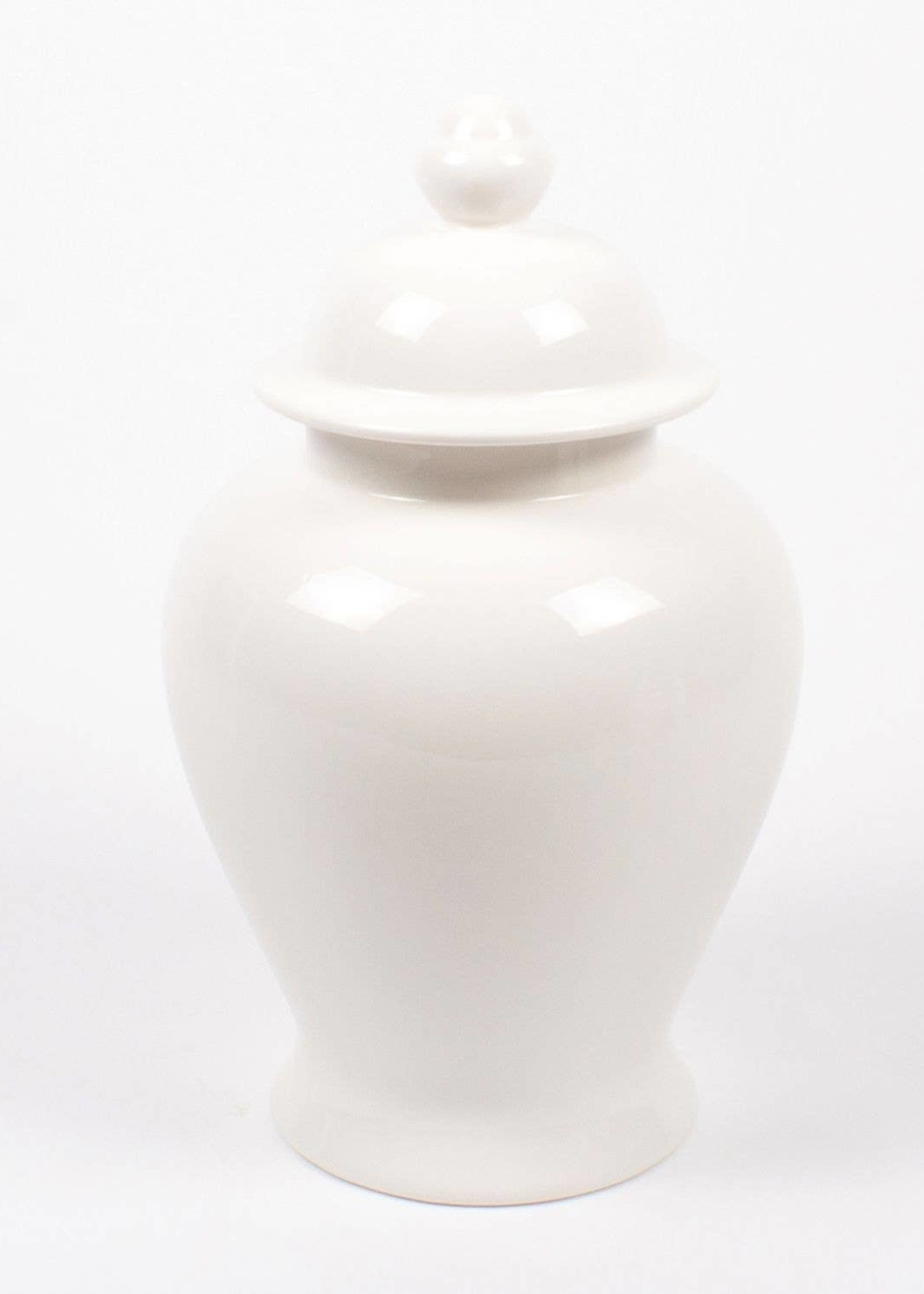 8 Oak Lane Extra Large Ginger Jar - White