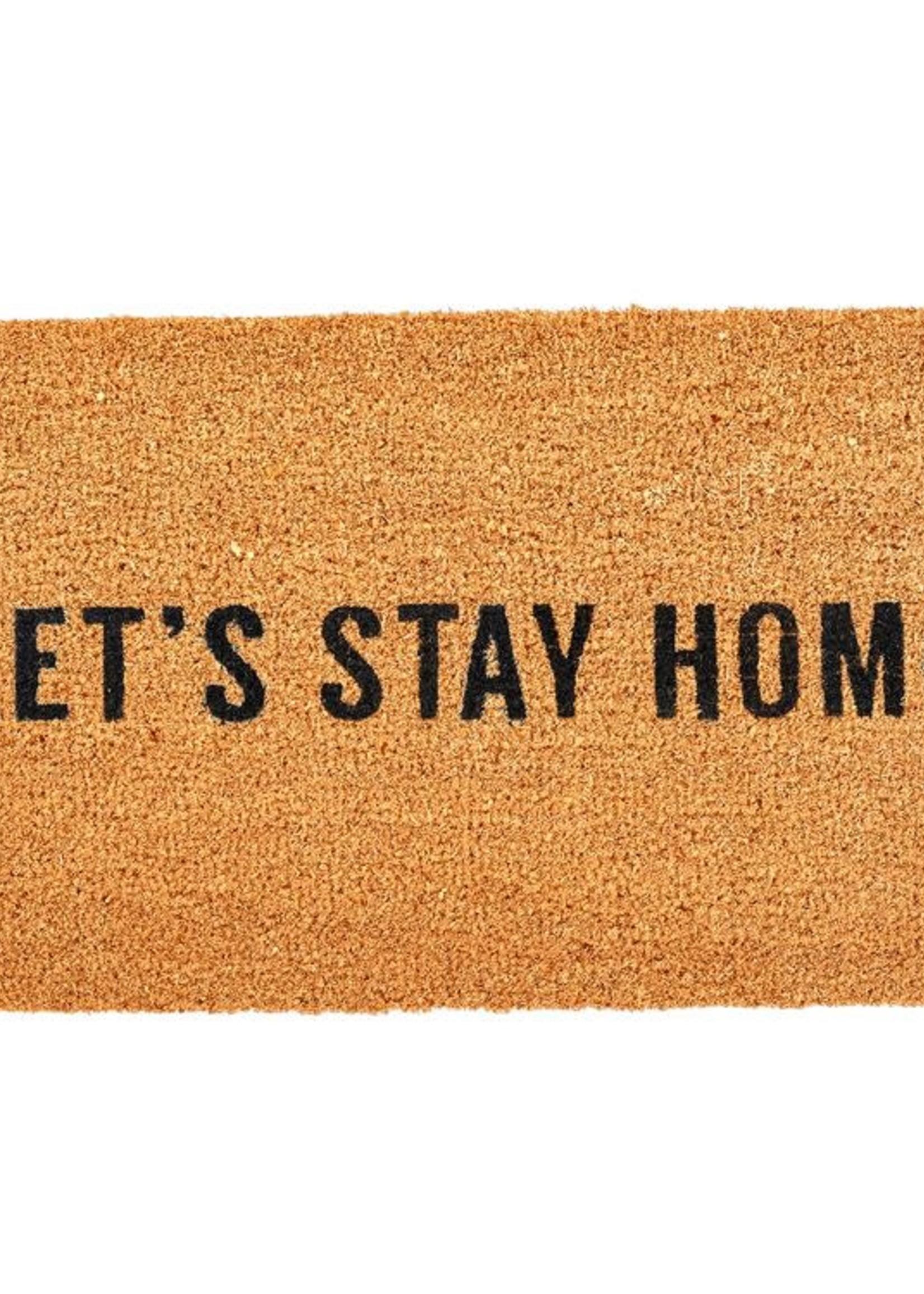 Let's Stay Home Doormat