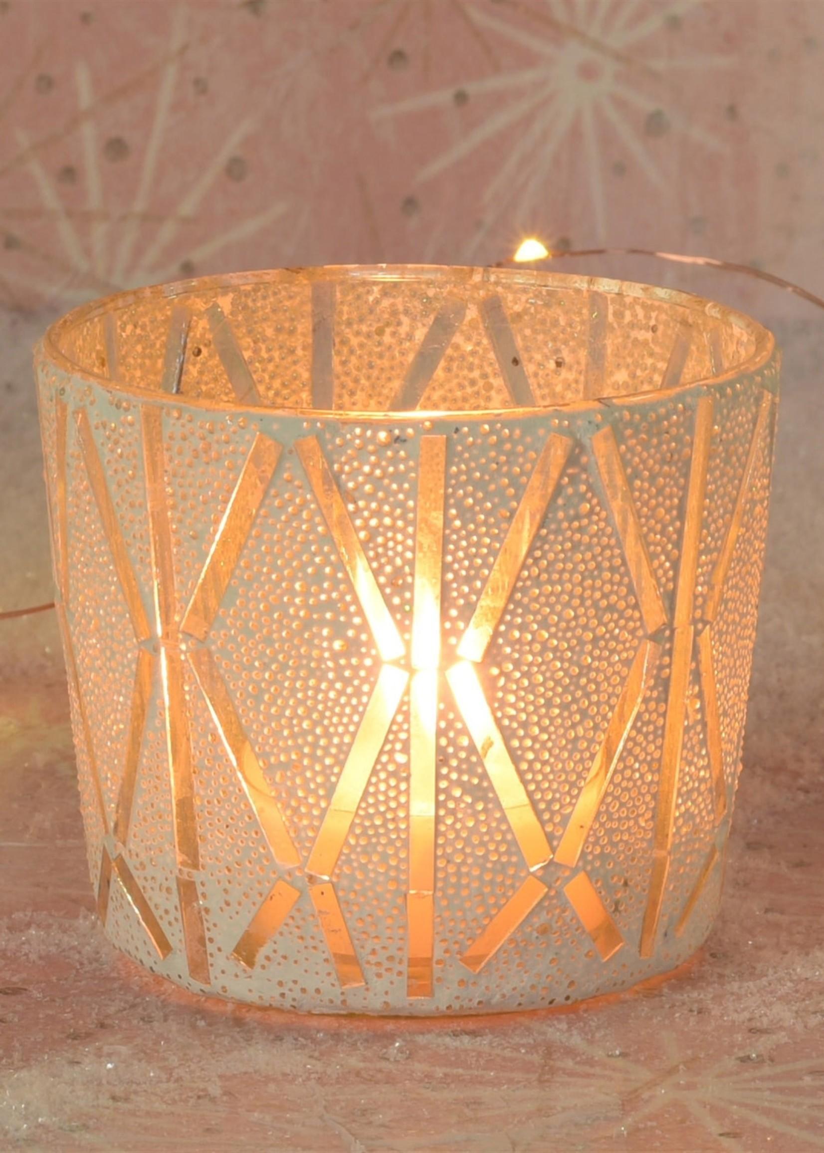 HomArt Blanco Mosaic Vase, Glass - Sm