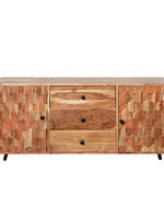 """30"""" Wood Console Table w/ 3 Drawers, Brown"""