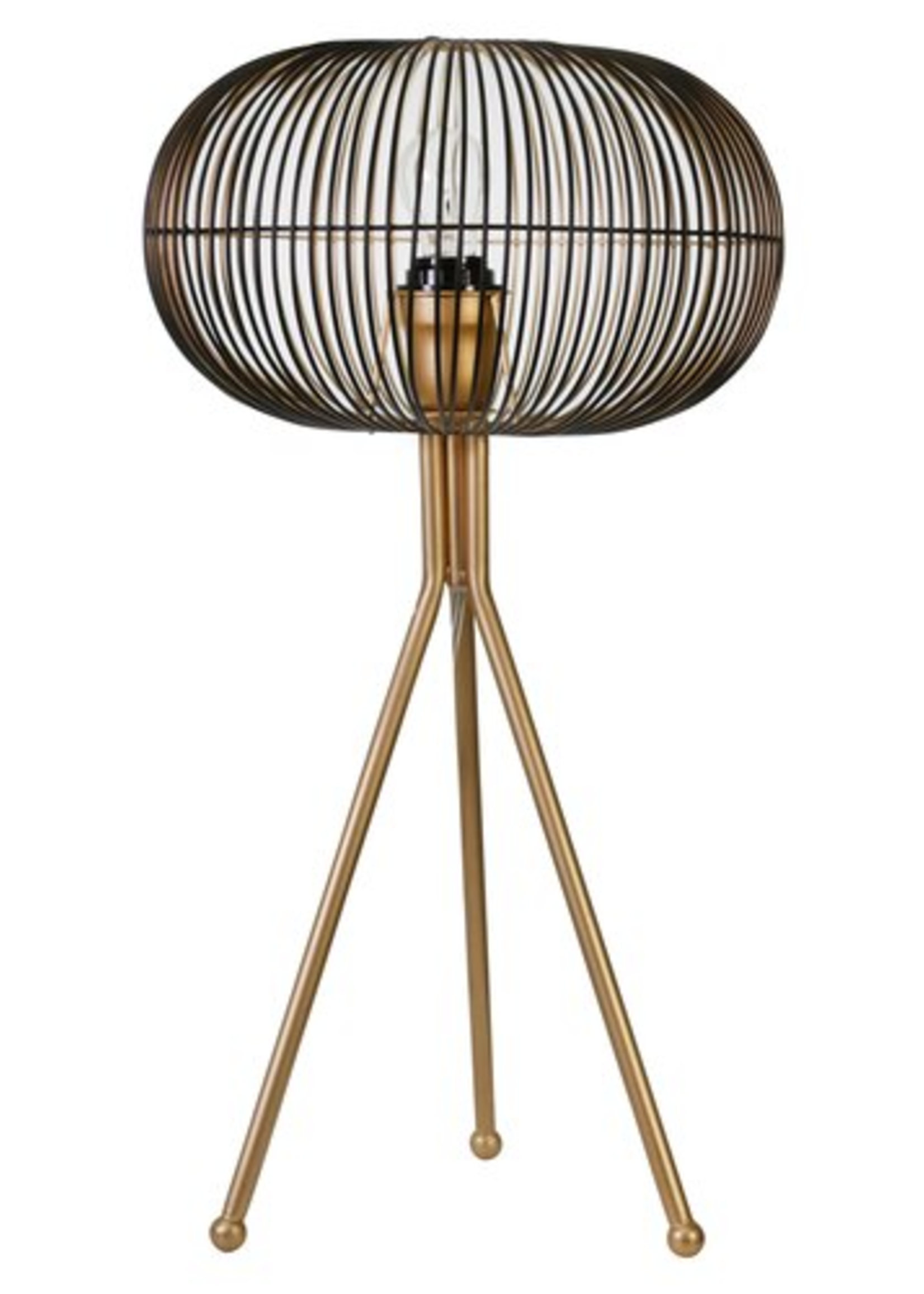 Metal Sphere Table Lamp