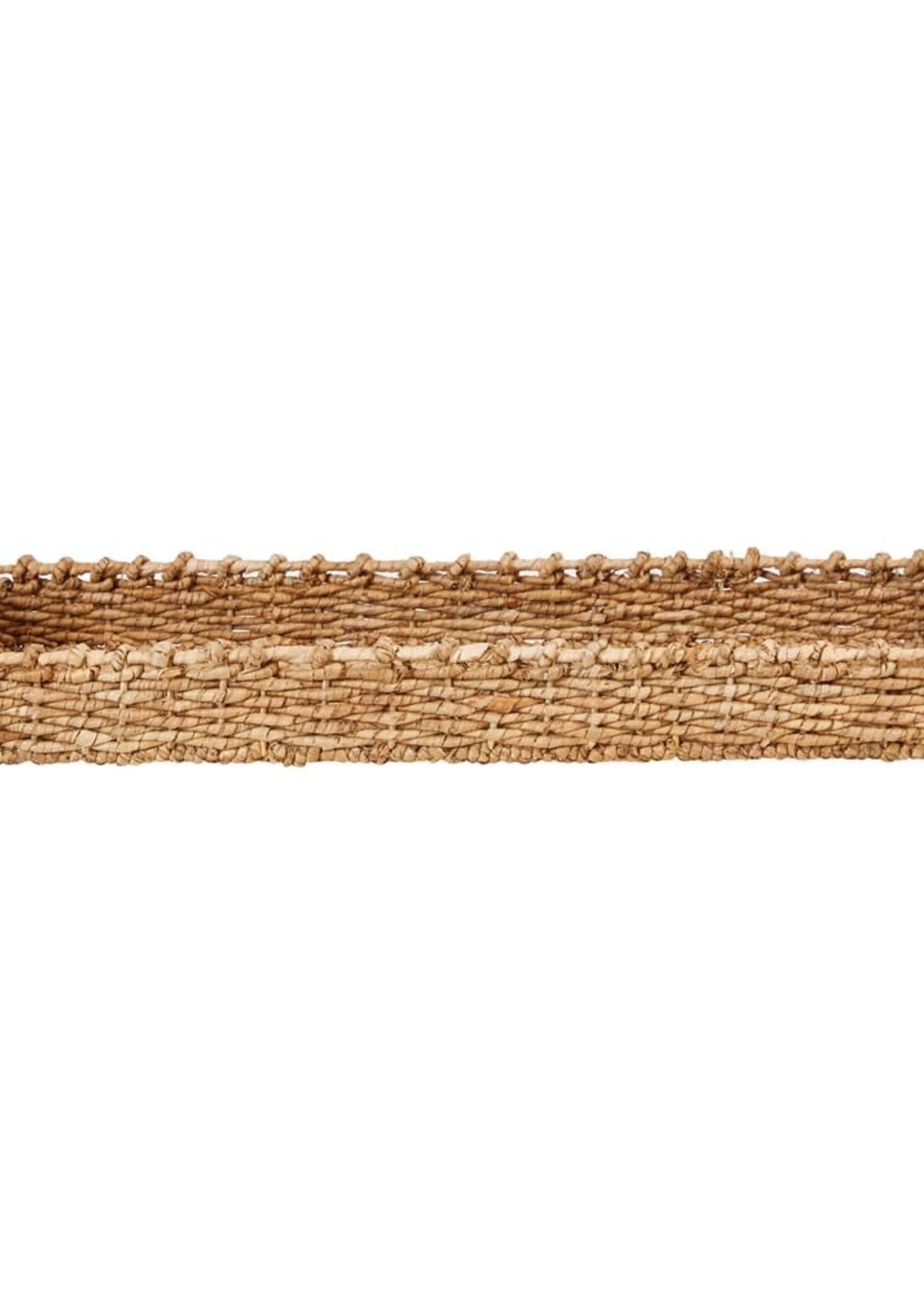 "30-1/2""L x 13""W x 6""H Decorative Hand-Woven Seagrass Tray w/ Handles"