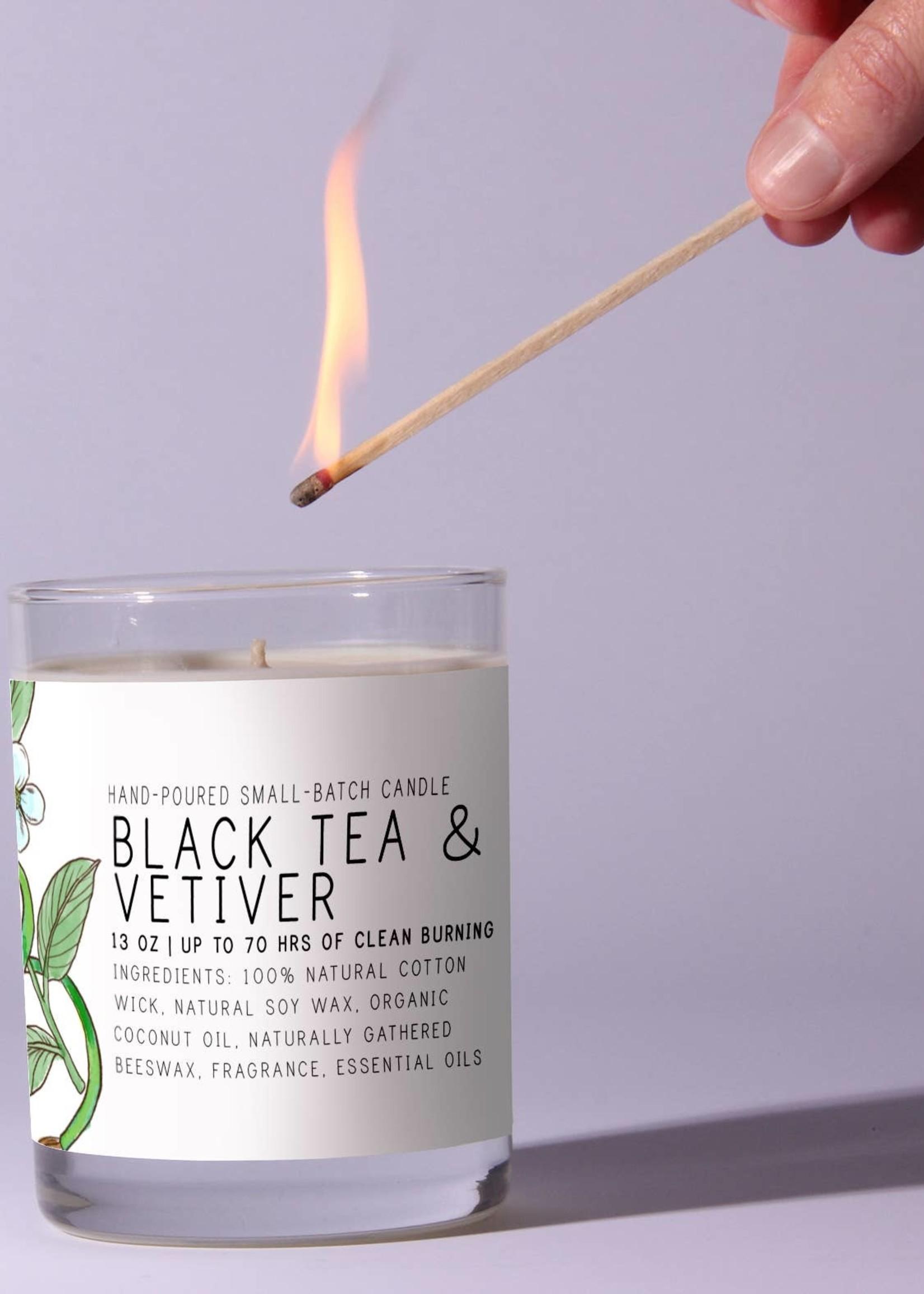 Just Bee Cosmetics Black Tea Vetiver Candles
