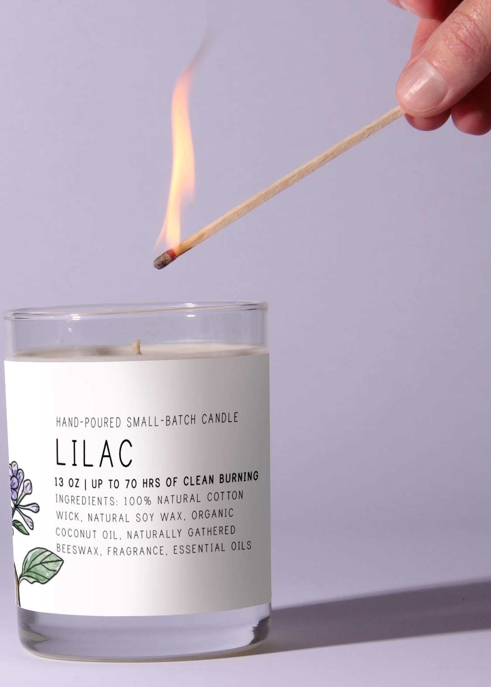 Just Bee Cosmetics Lilac Candle