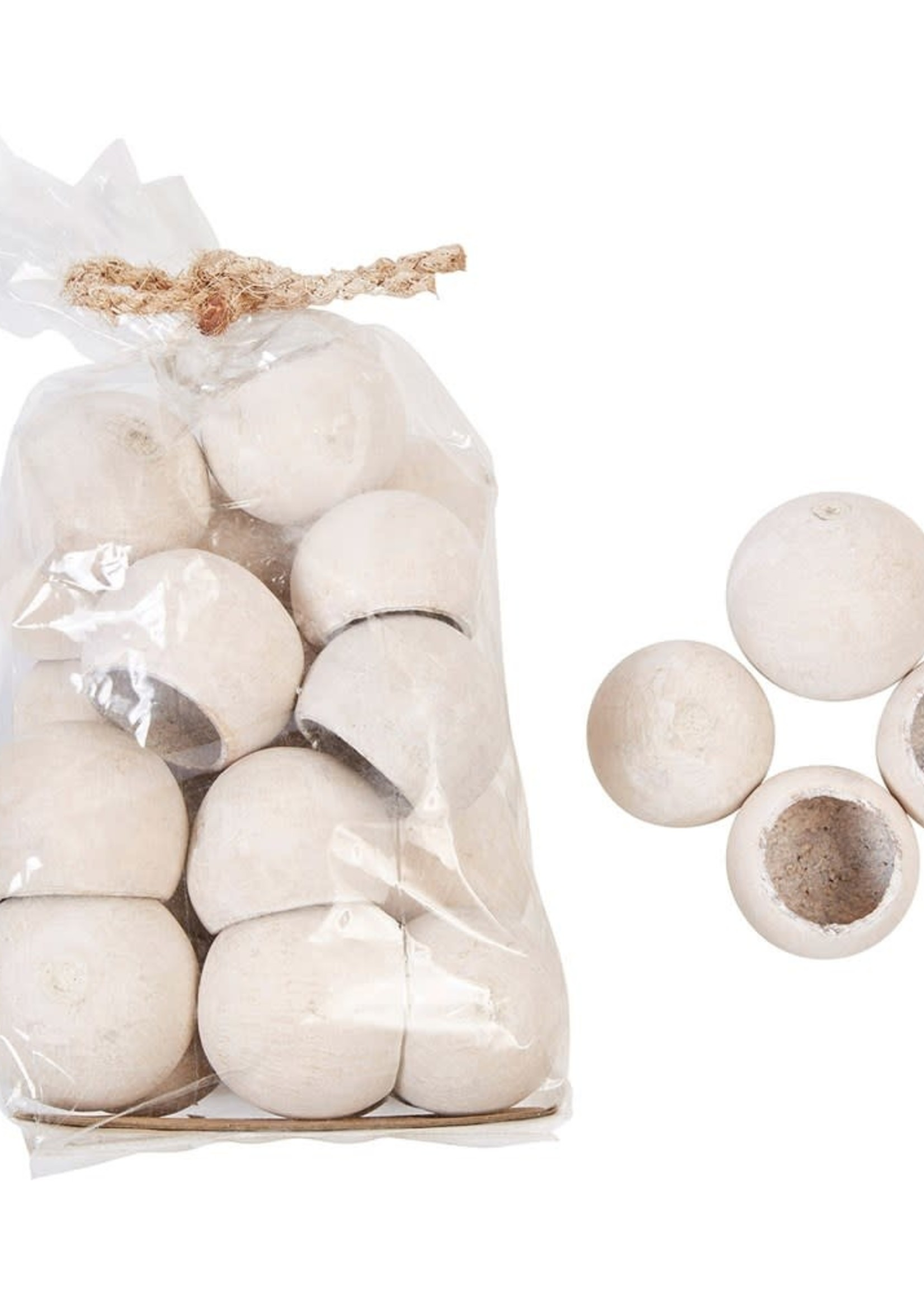 """Approximately 3""""H Dried Natural Bell Cup in Bag, Whitewash Finish (Contains 20 Pieces)"""