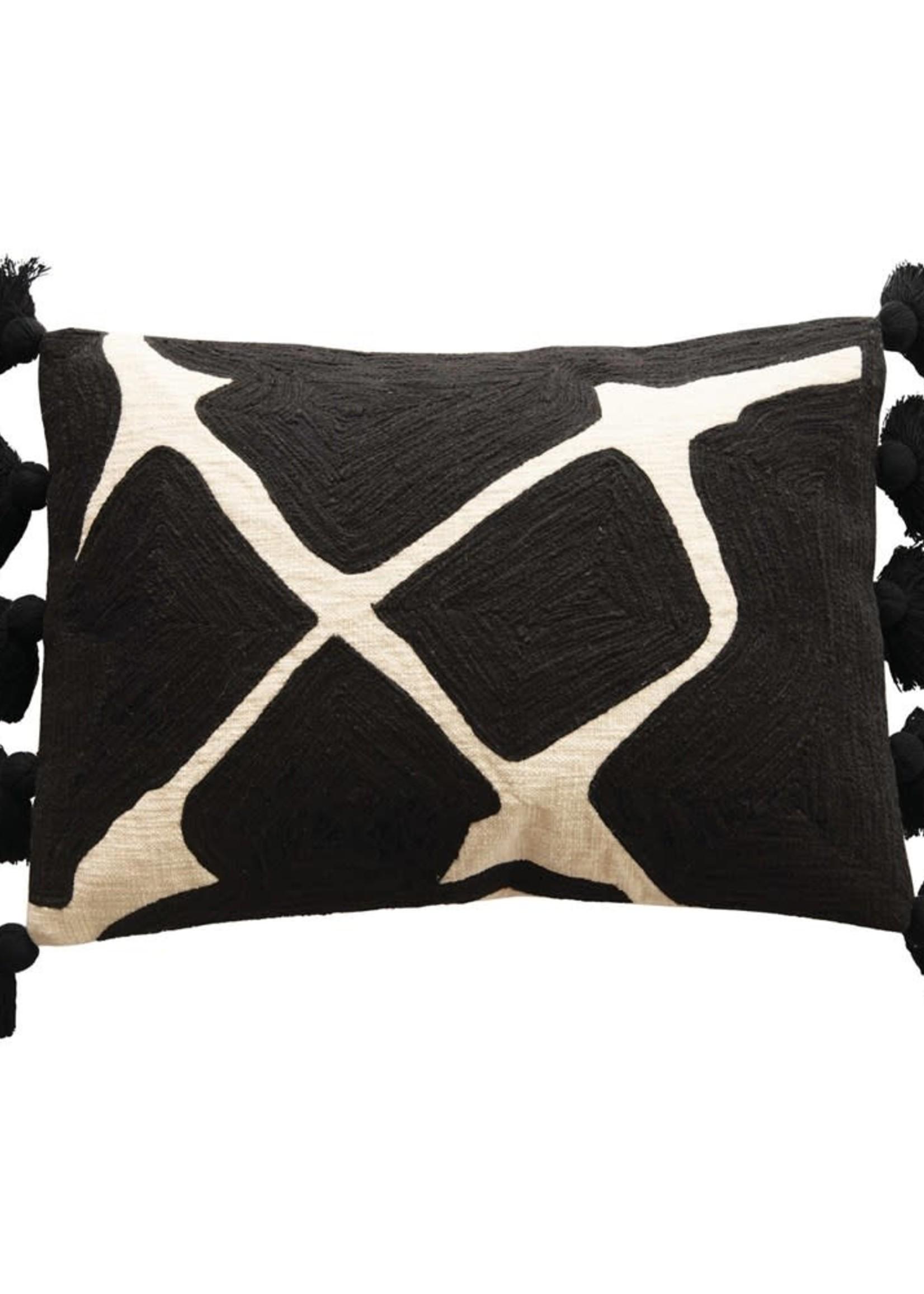 Cotton Oblong Lumbar Pillow