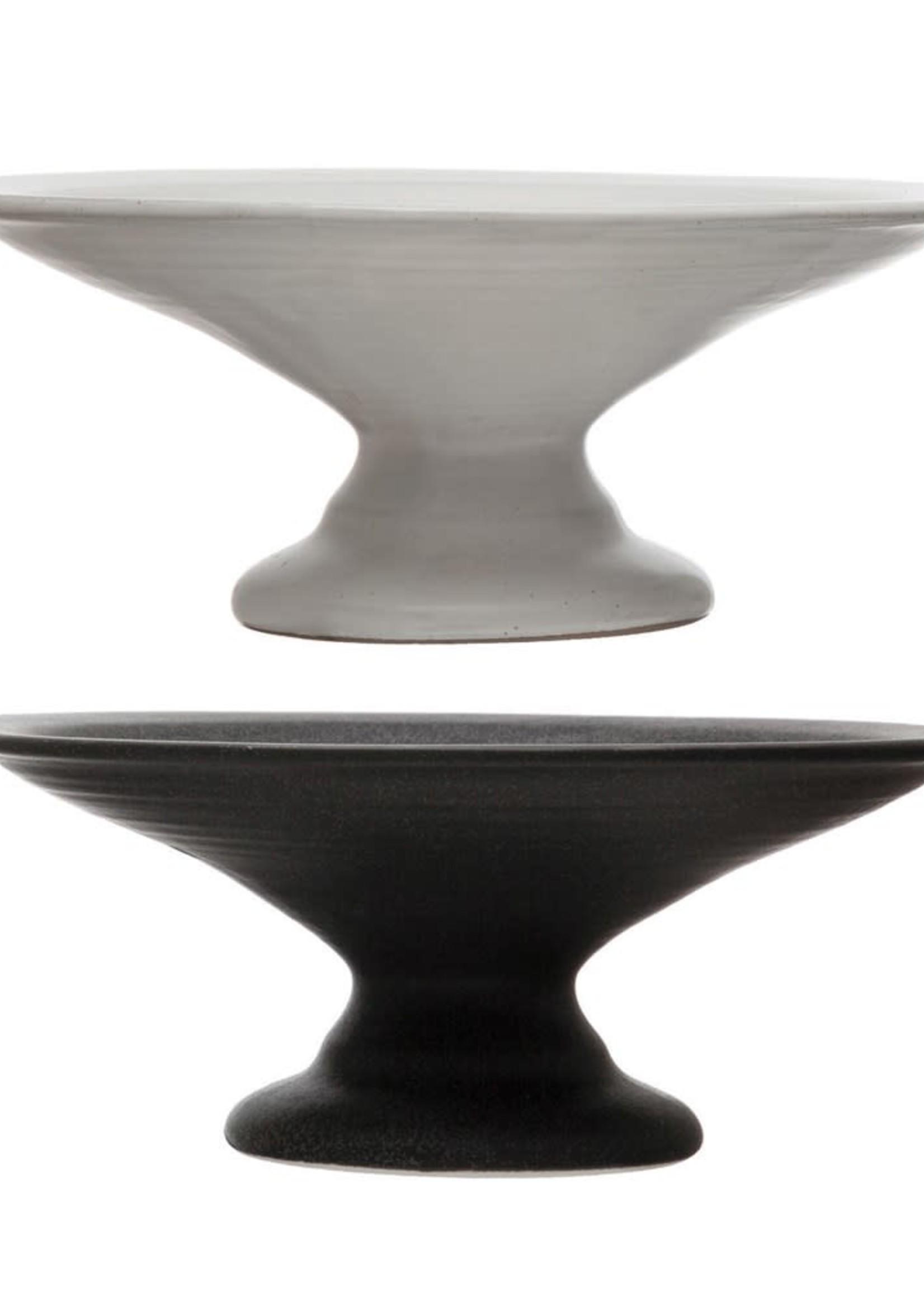 Medium Stoneware Pedestals, Matte Finish, 2 Colors