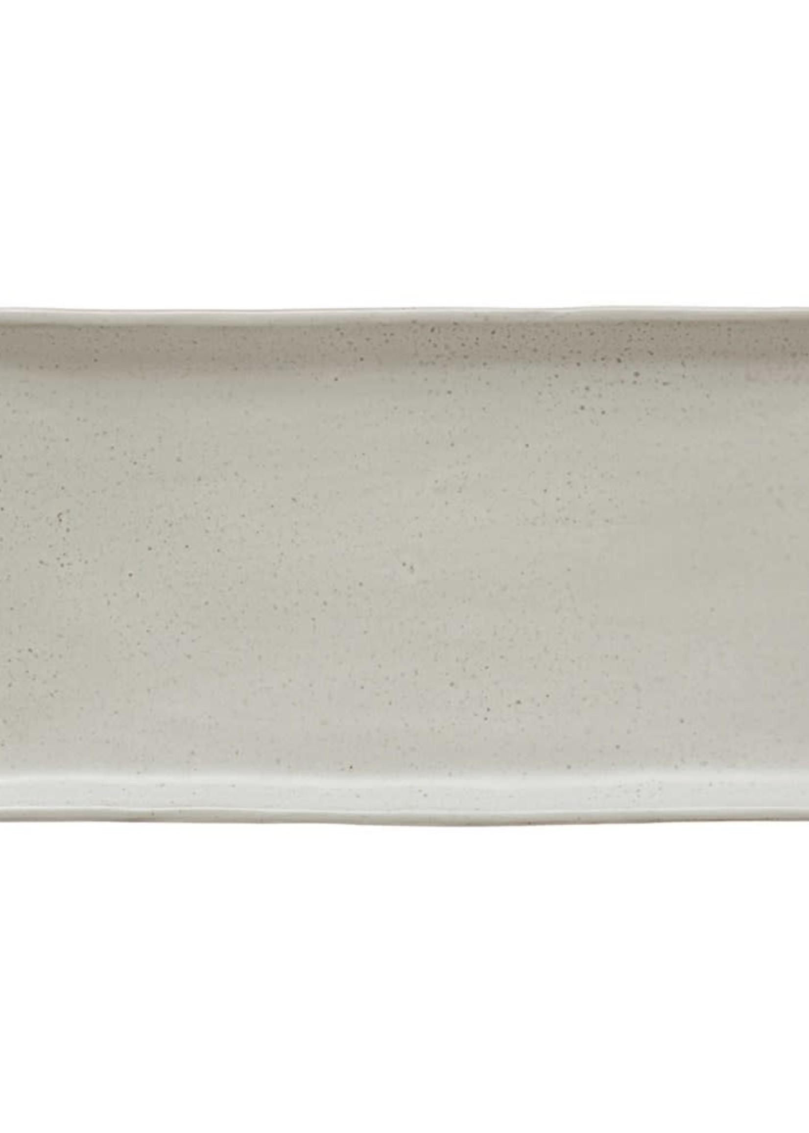 "13-1/4"" Stoneware Plate, White"